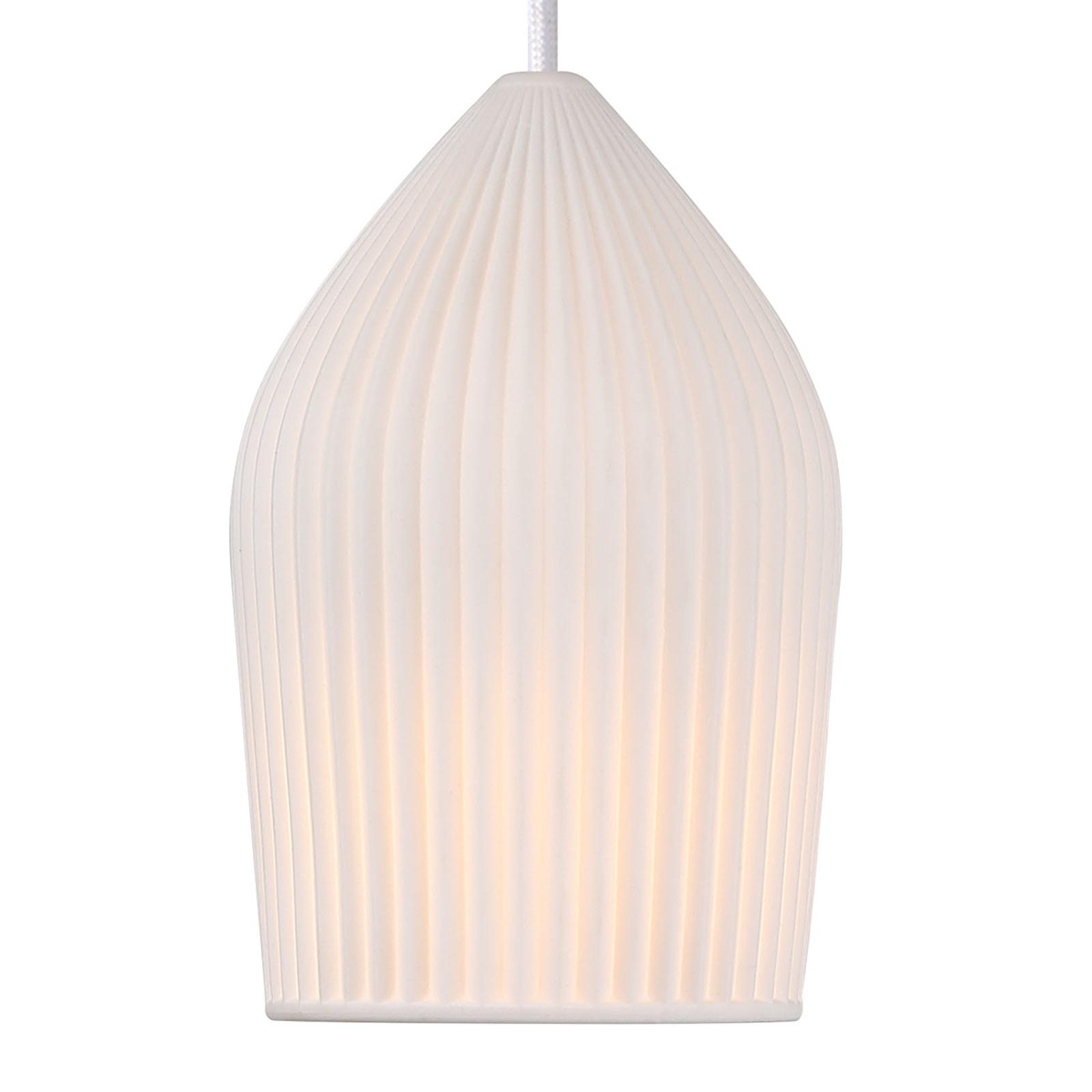 Witte keramiek-hanglamp Reykjavik Ø 12 cm