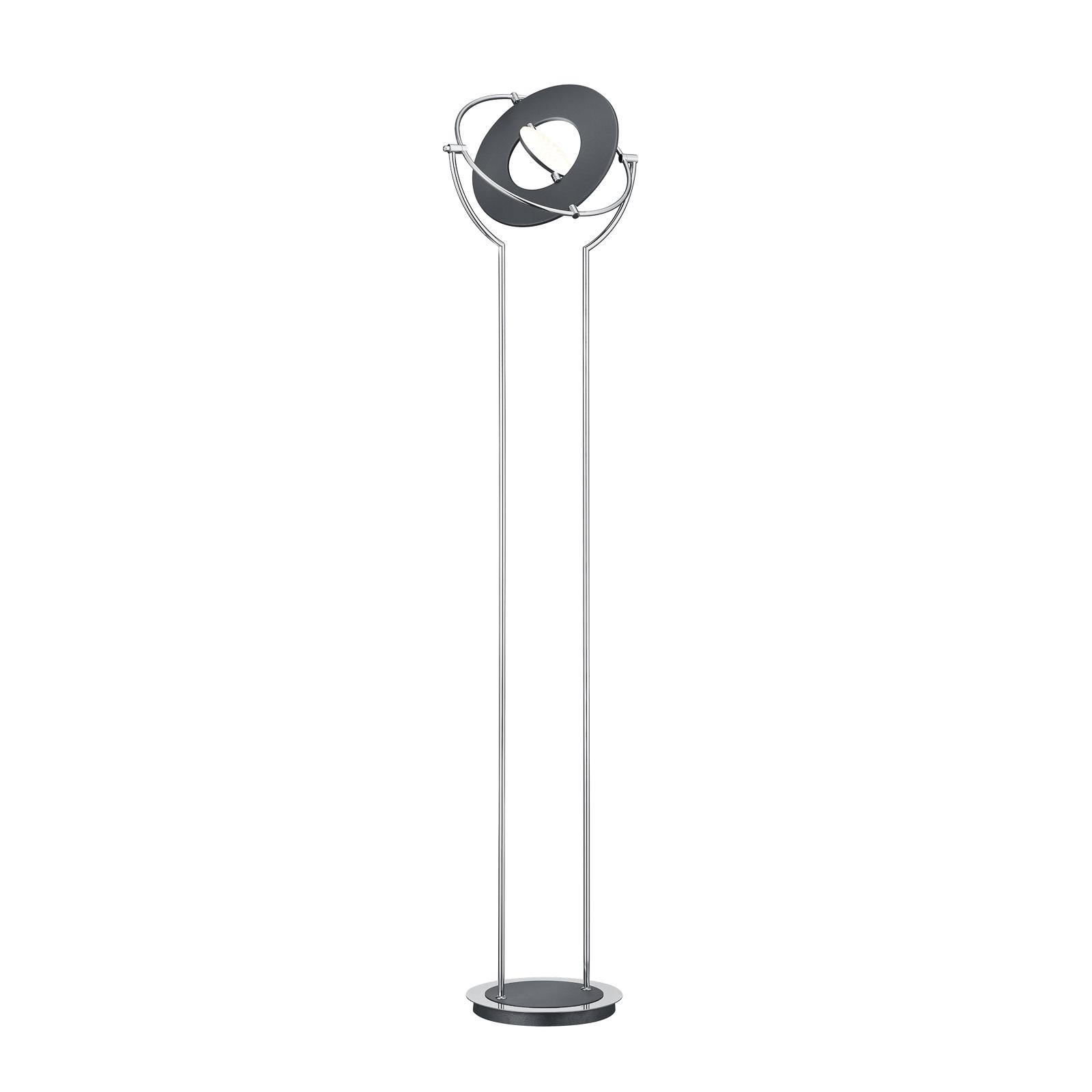 BANKAMP Astoria lampadaire LED, ZigBee gris chromé
