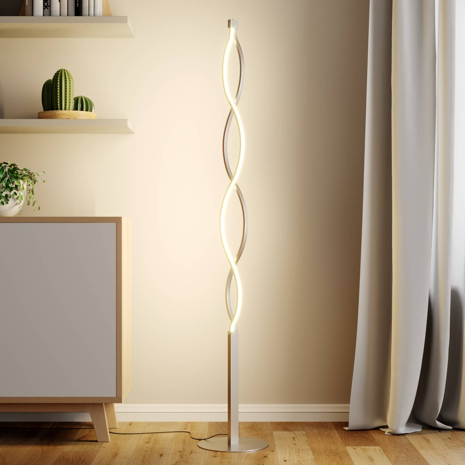 Golfvormige LED vloerlamp Auron