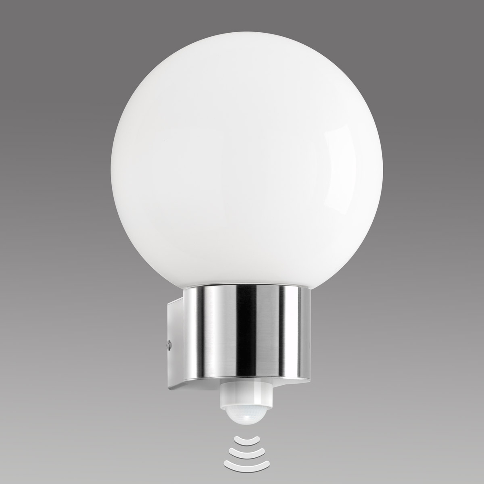 Edelstahl-Außenwandleuchte Kekoa mit Sensor
