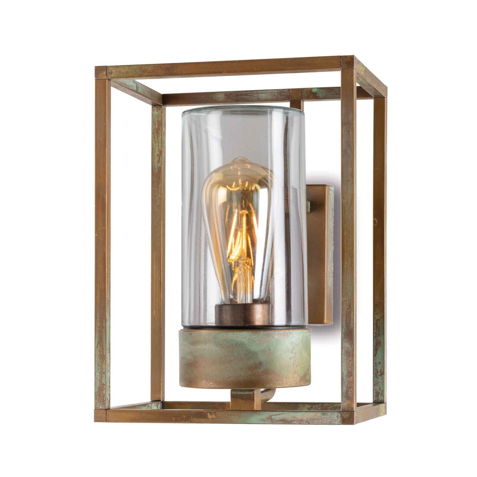 Buitenwandlamp Cubic³ 3363 messing antiek/helder