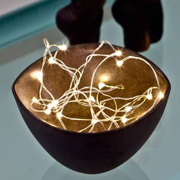 Strålende lyskæde LED Knirke, 20 lyskilder