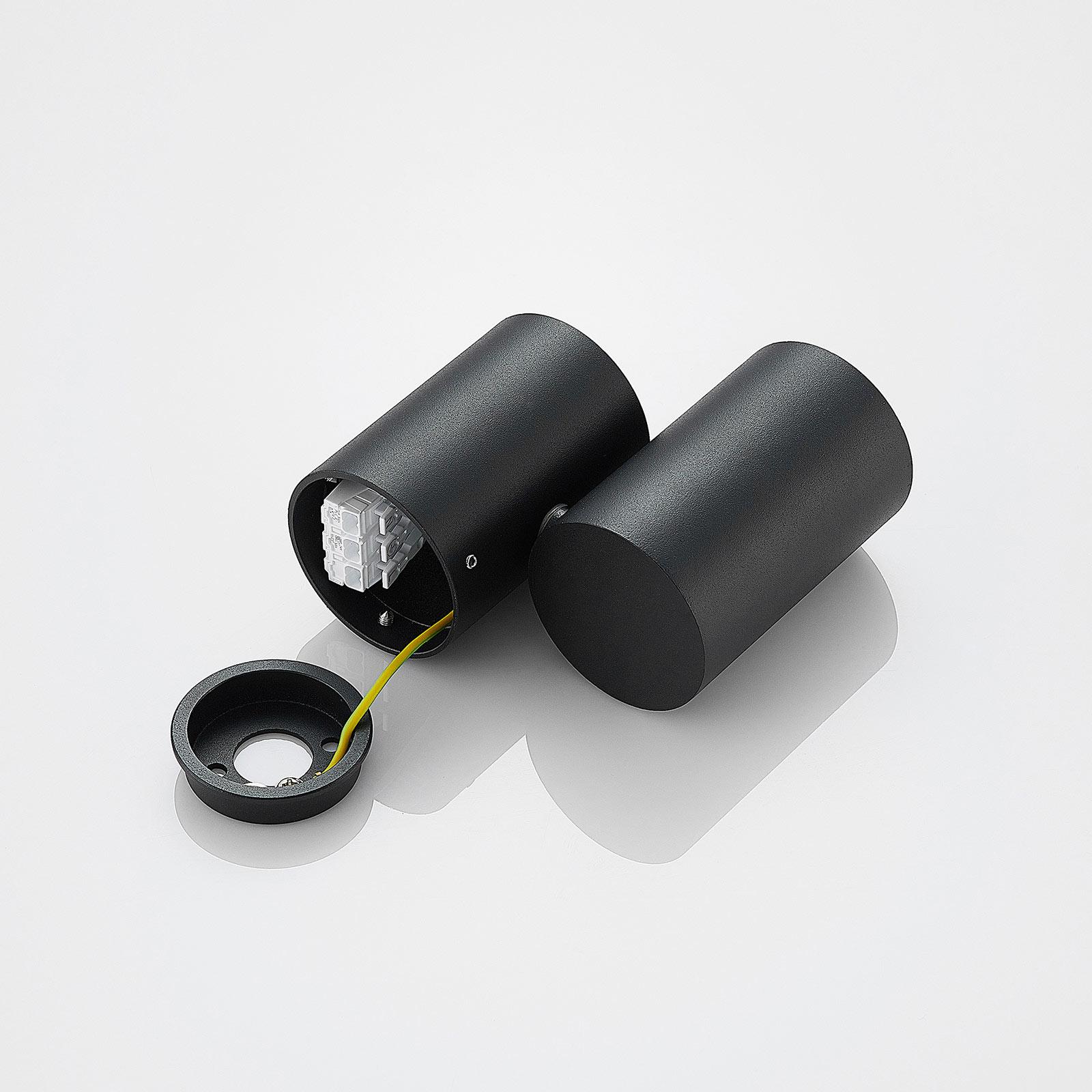 Taklampa Gesigna, 1 lampa, svart | Lamp24.se
