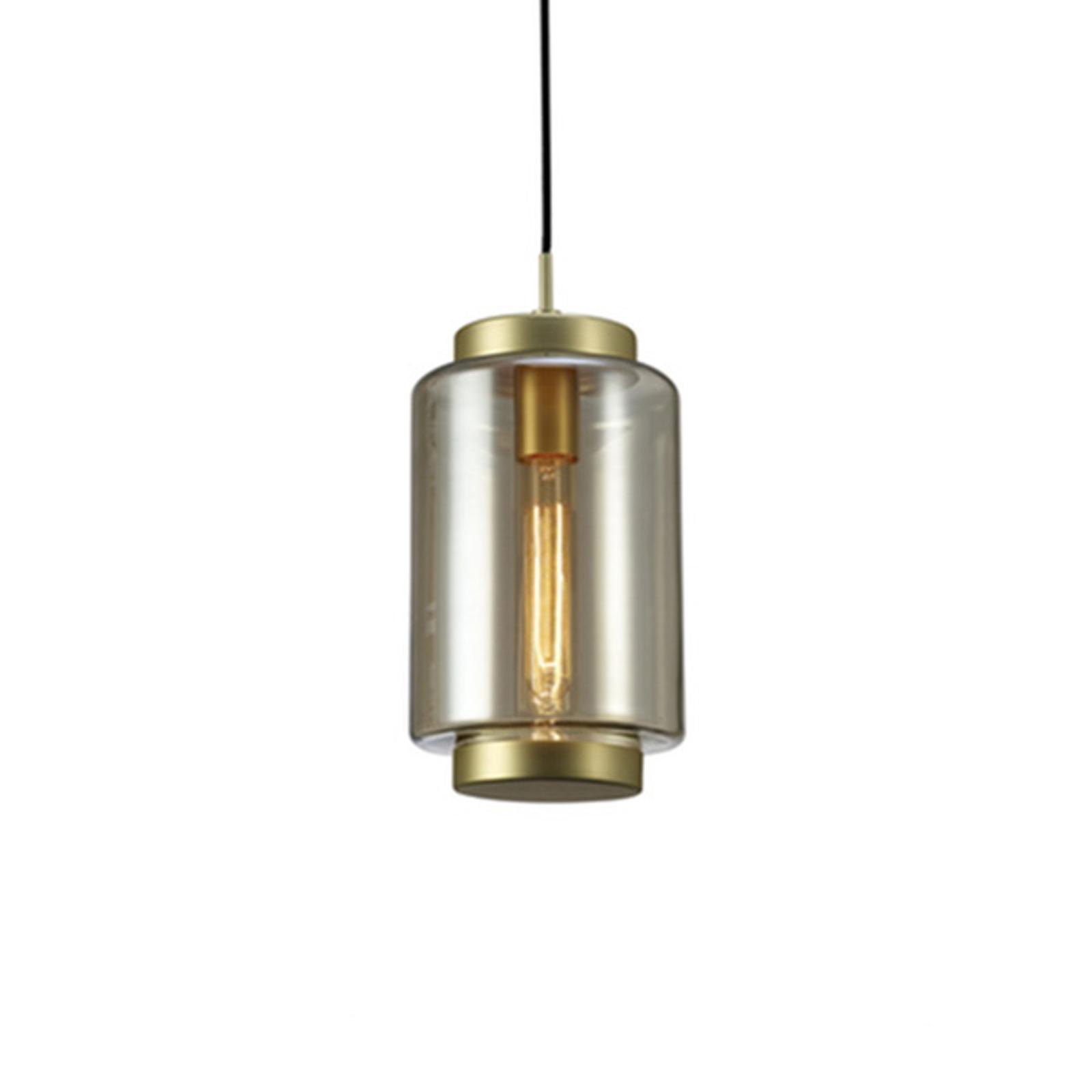 Lampa wisząca Jarras, wysokość 34,5 cm, brązowa