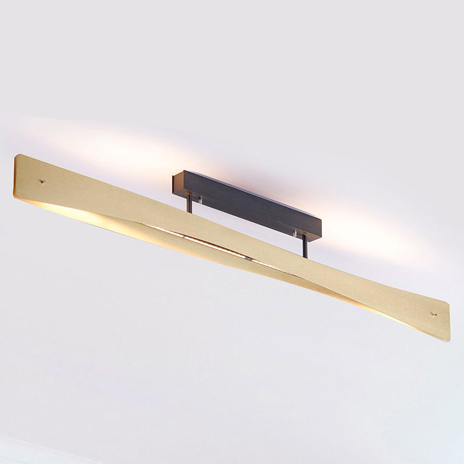Lucande Lian LED plafondlamp, messing, zwart
