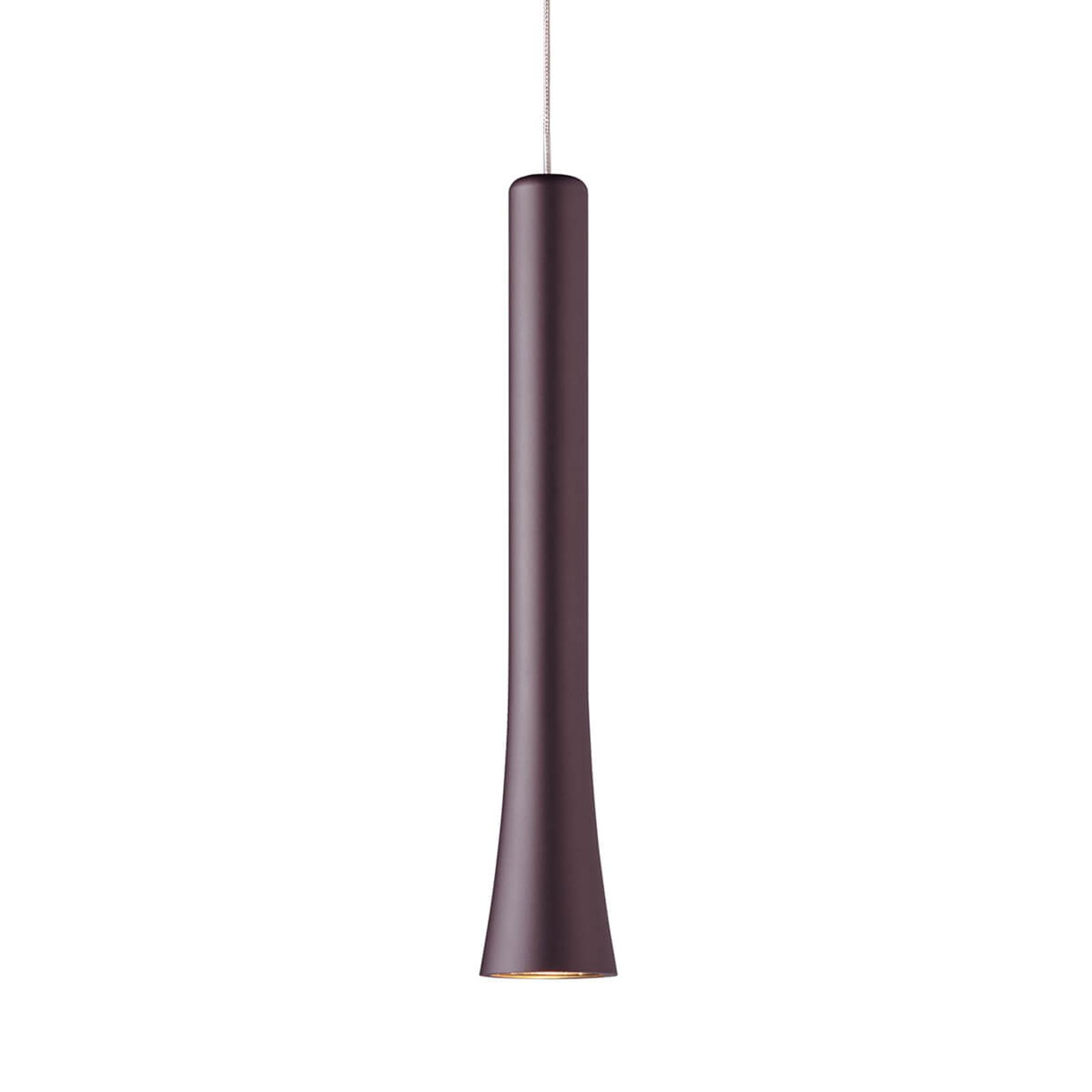 Elegant gevormde LED hanglamp Rio - espresso