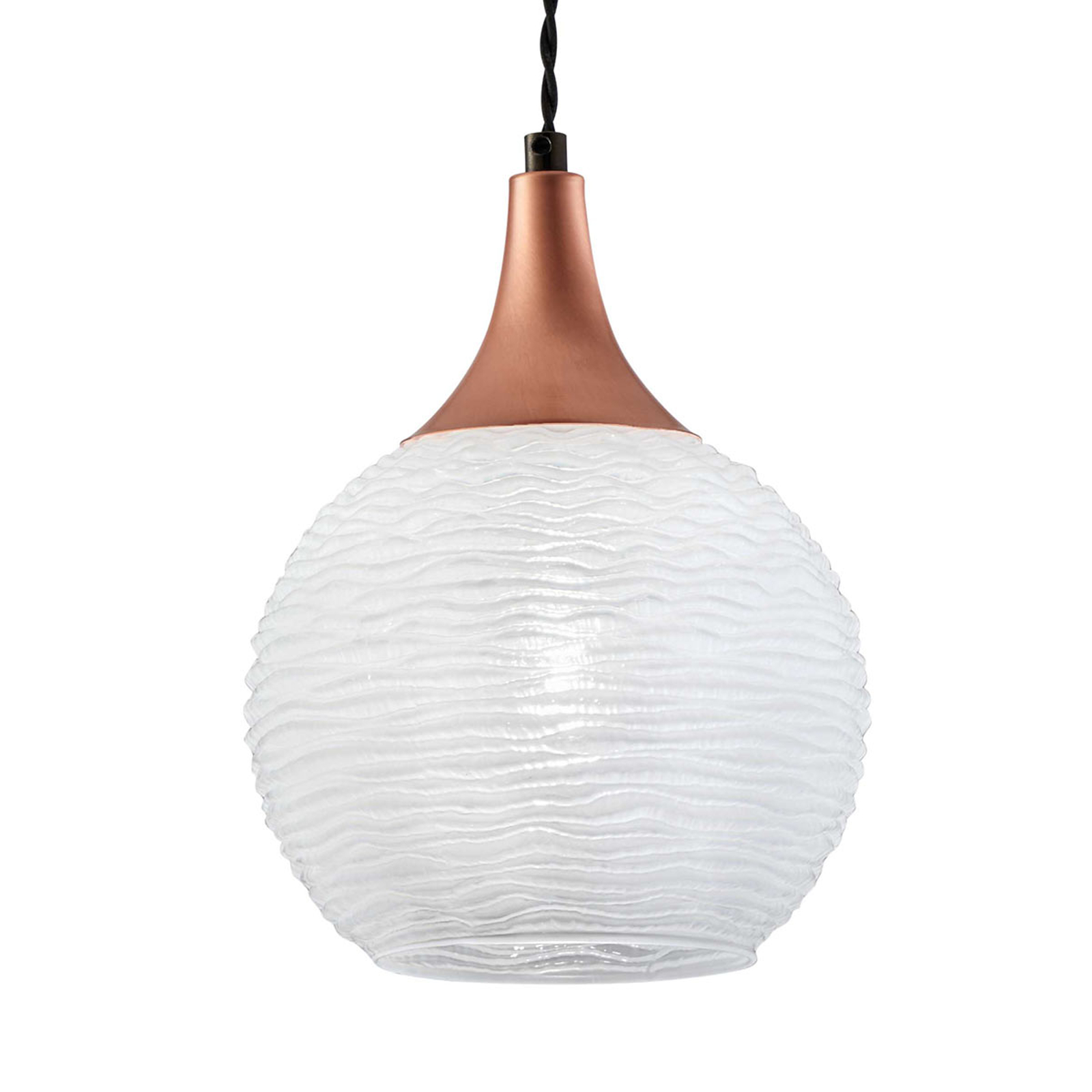 Biała szklana lampa wisząca Fiona, 1-punktowa