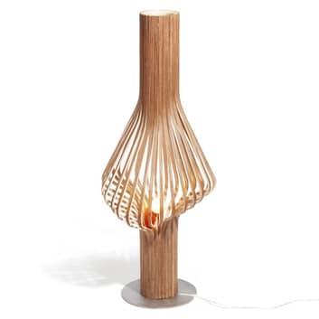 Northern Diva - dubová stojací lampa se stmívačem