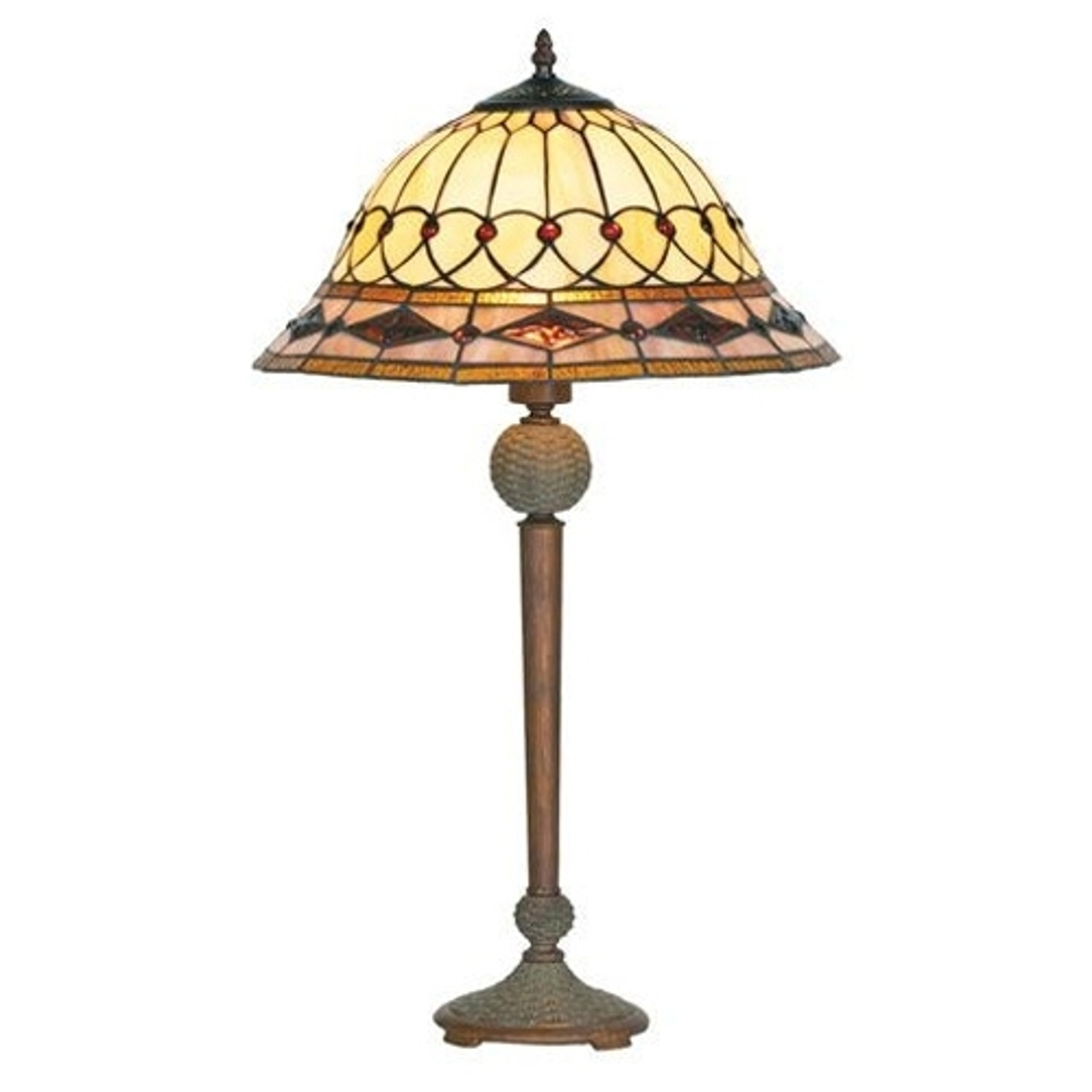Lampa stołowa Kassandra w stylu Tiffany