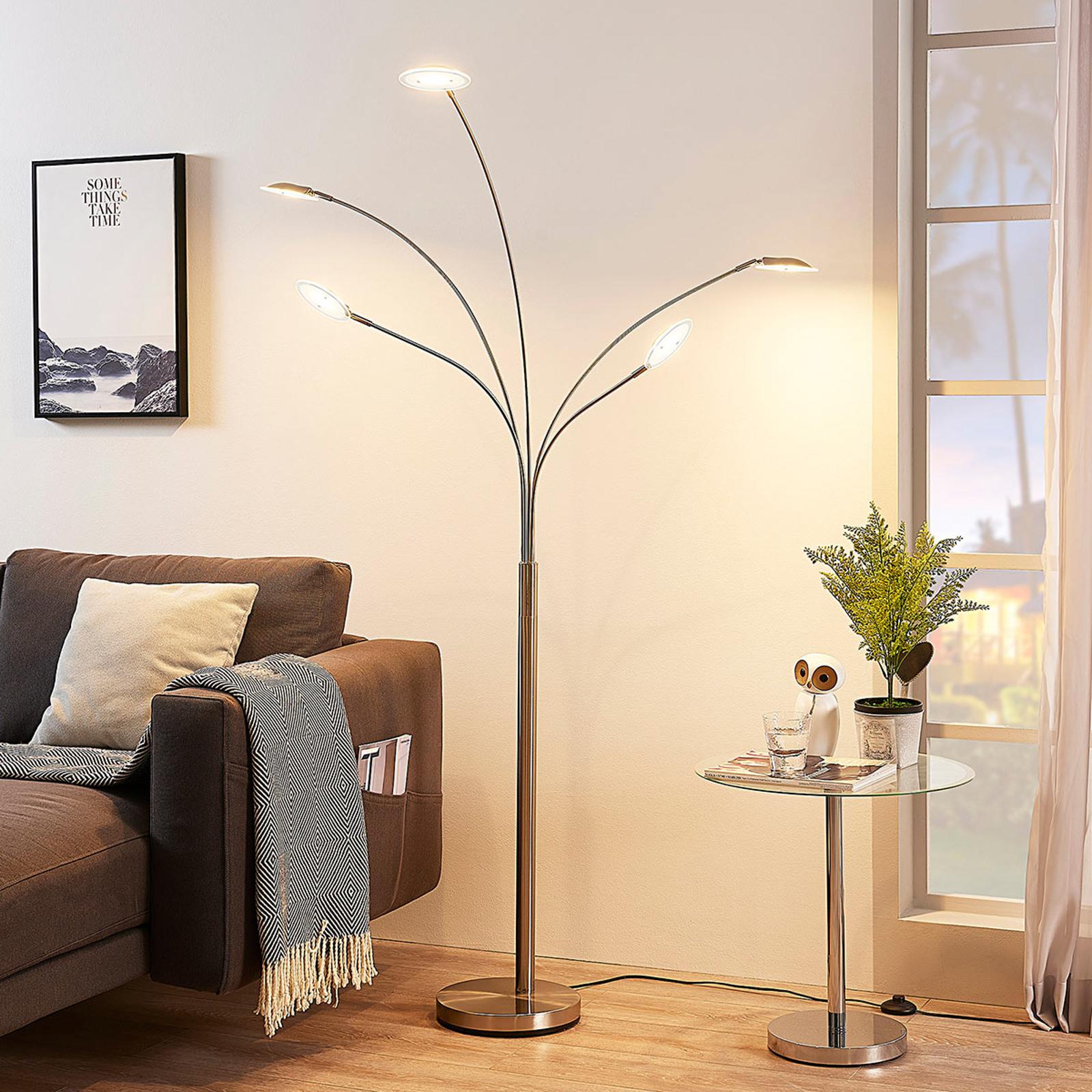 5-punktowa lampa stojąca LED Anea