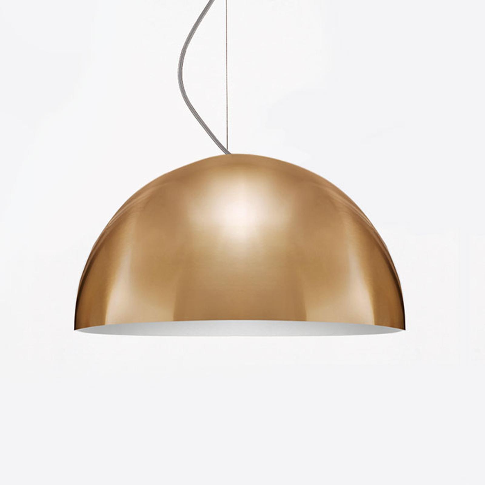Oluce Sonora - goudkleurige hanglamp, 38 cm