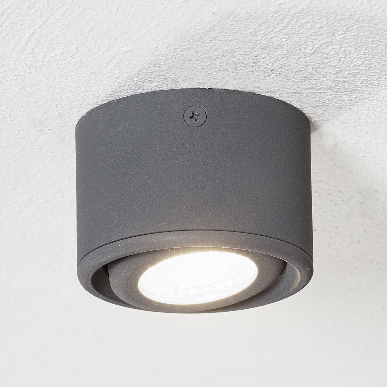 Kantelbare kop - LED downlight Anzio, antraciet