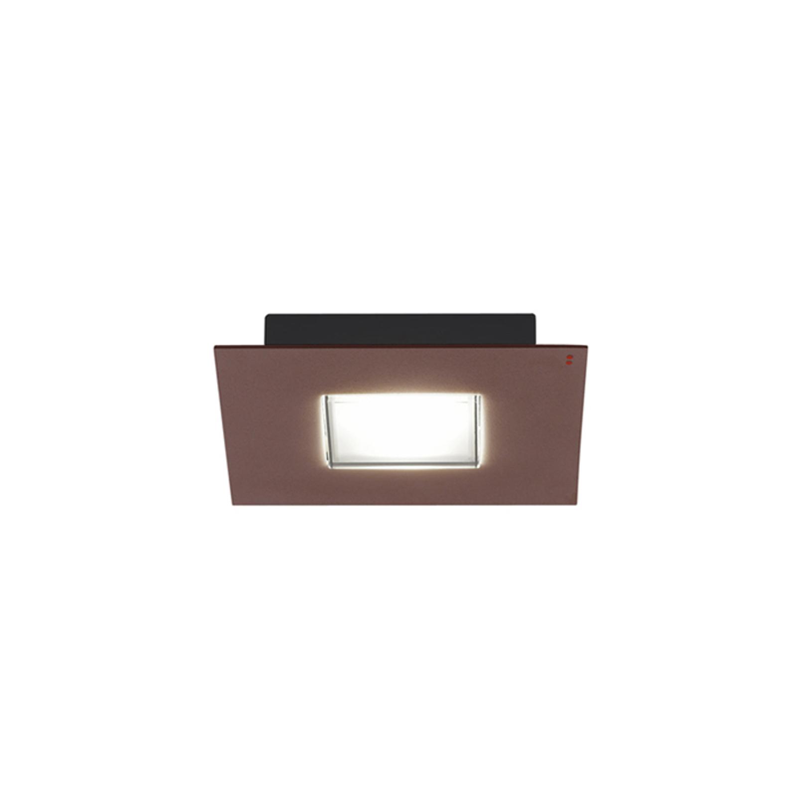 Quarter - een LED plafondlamp met bruine rand