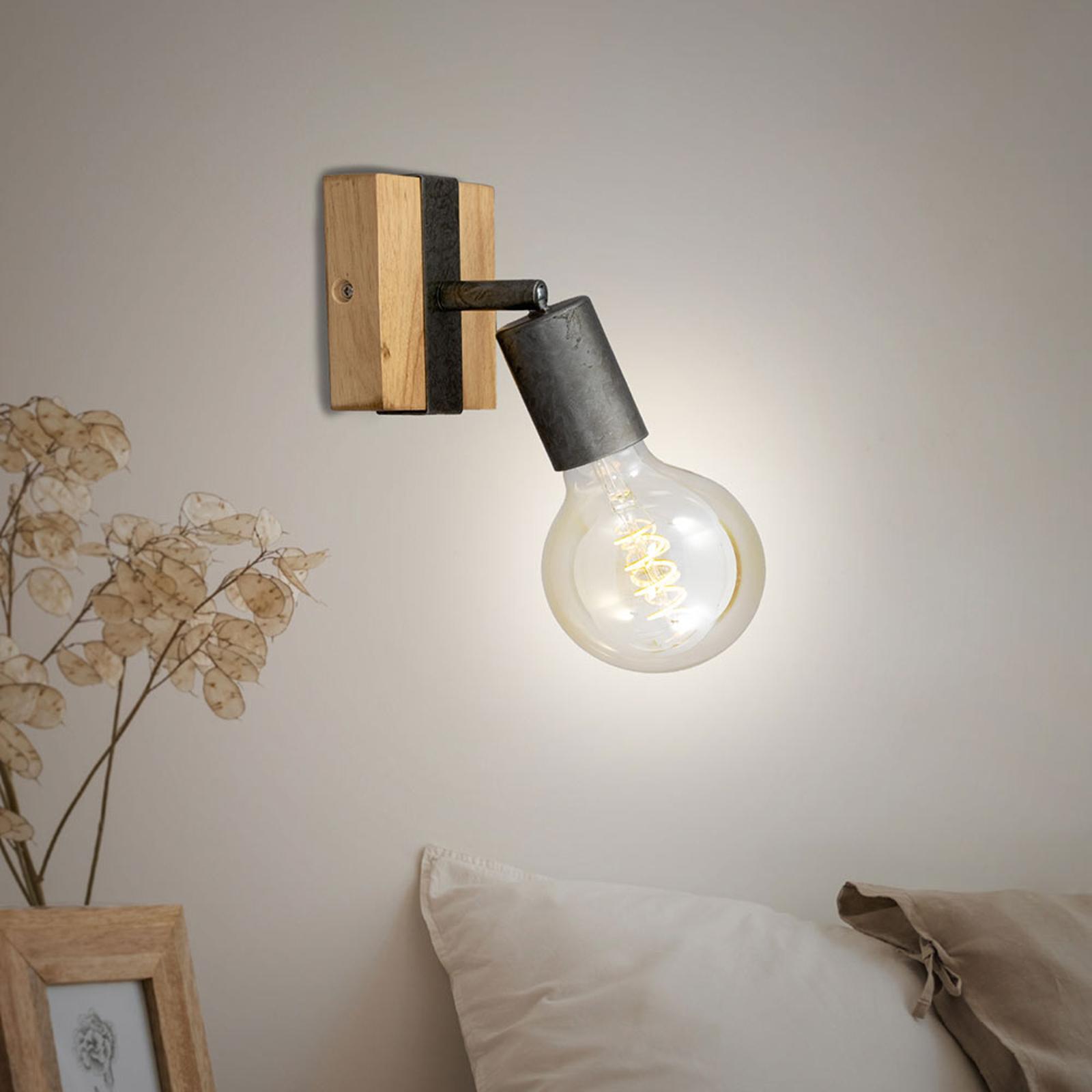 Vegglampe Wood Basic, 1 lyskilde