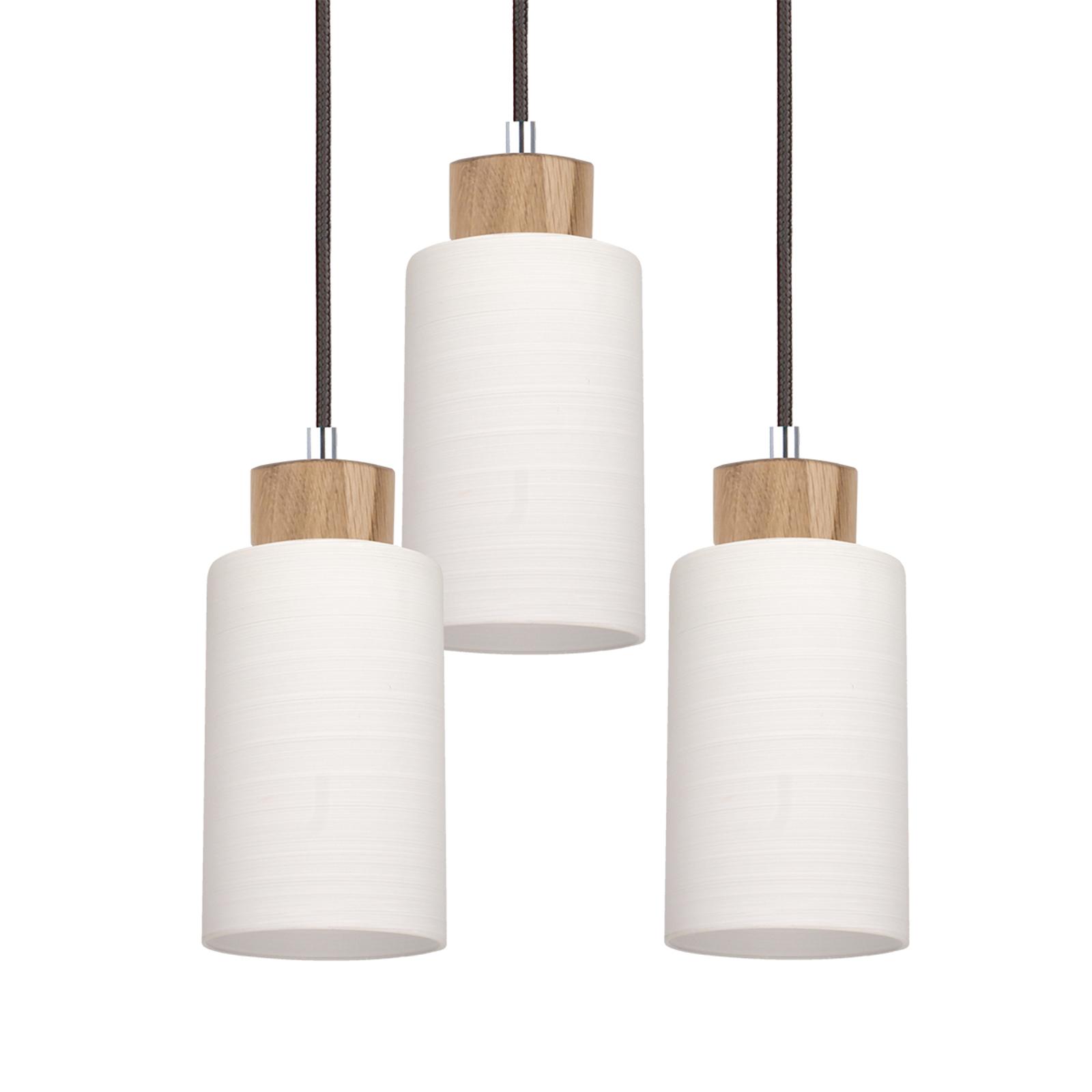 Hængelampe Bosco rund eg olieret 3 lyskilder