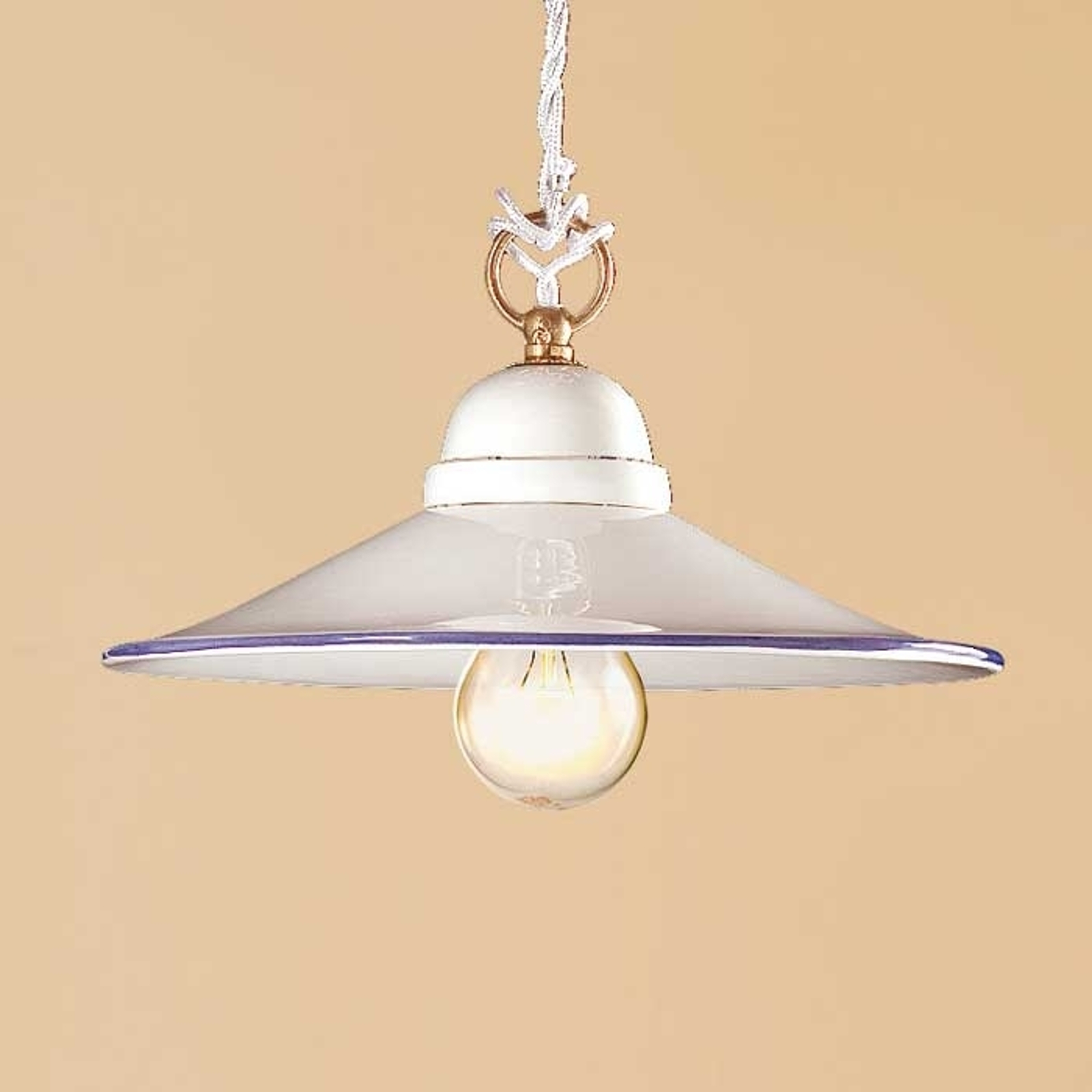 Piękna lampa PIATTO z ceramiki 28 cm