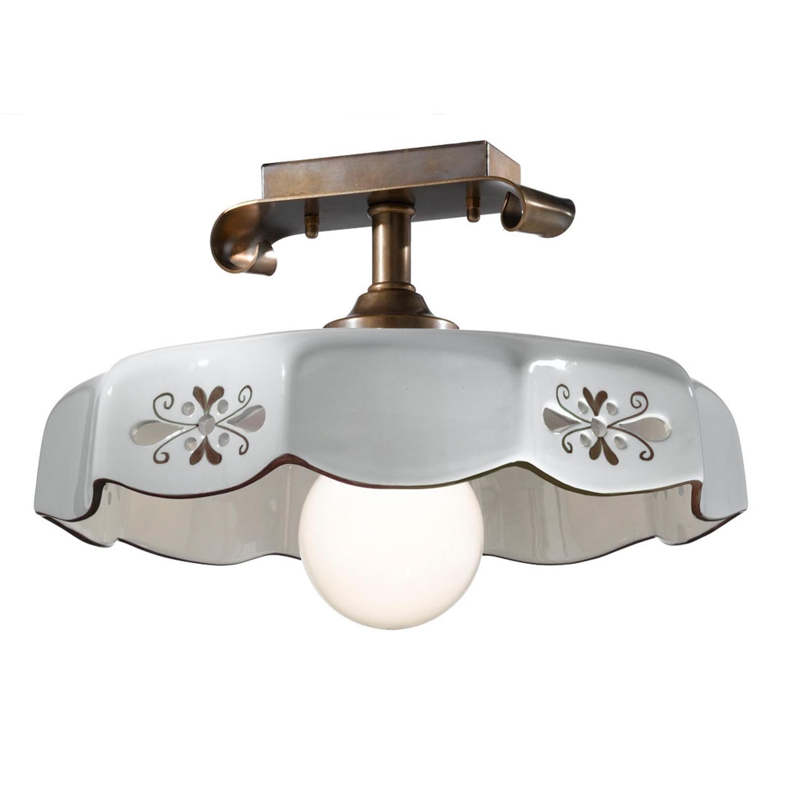 Lampa sufitowa Marostica styl wiejski brązowa