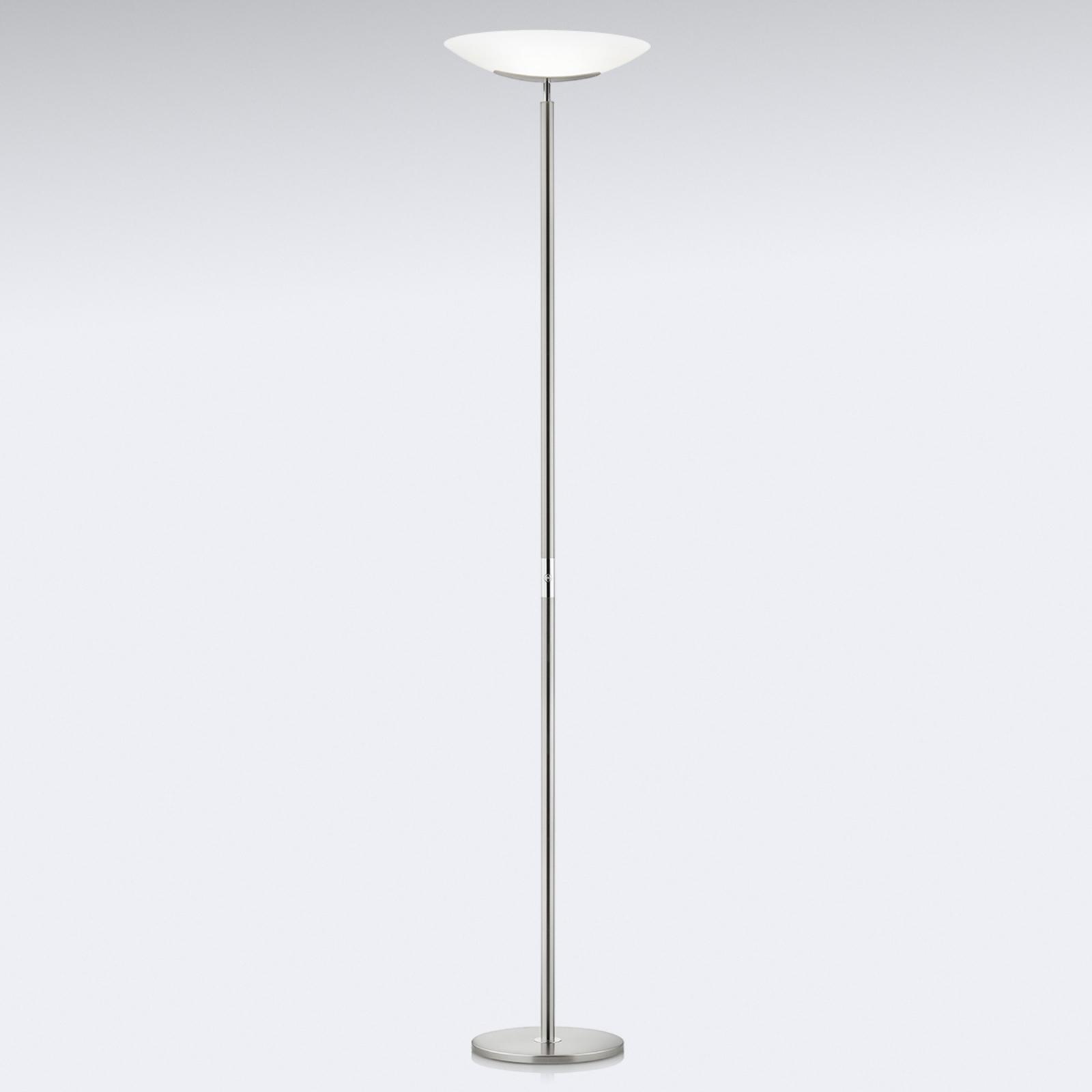 Högklassig LED-uplight-golvlampa Mika, nickel-krom