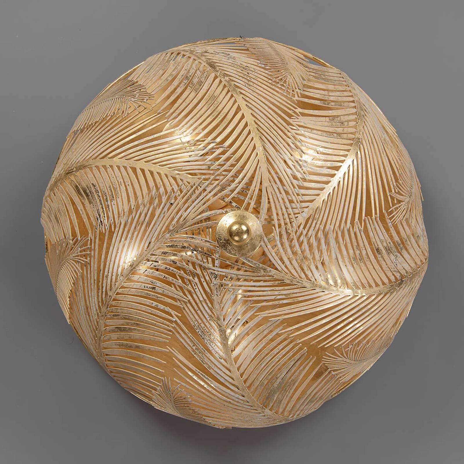 Felce – złota designerska lampa sufitowa