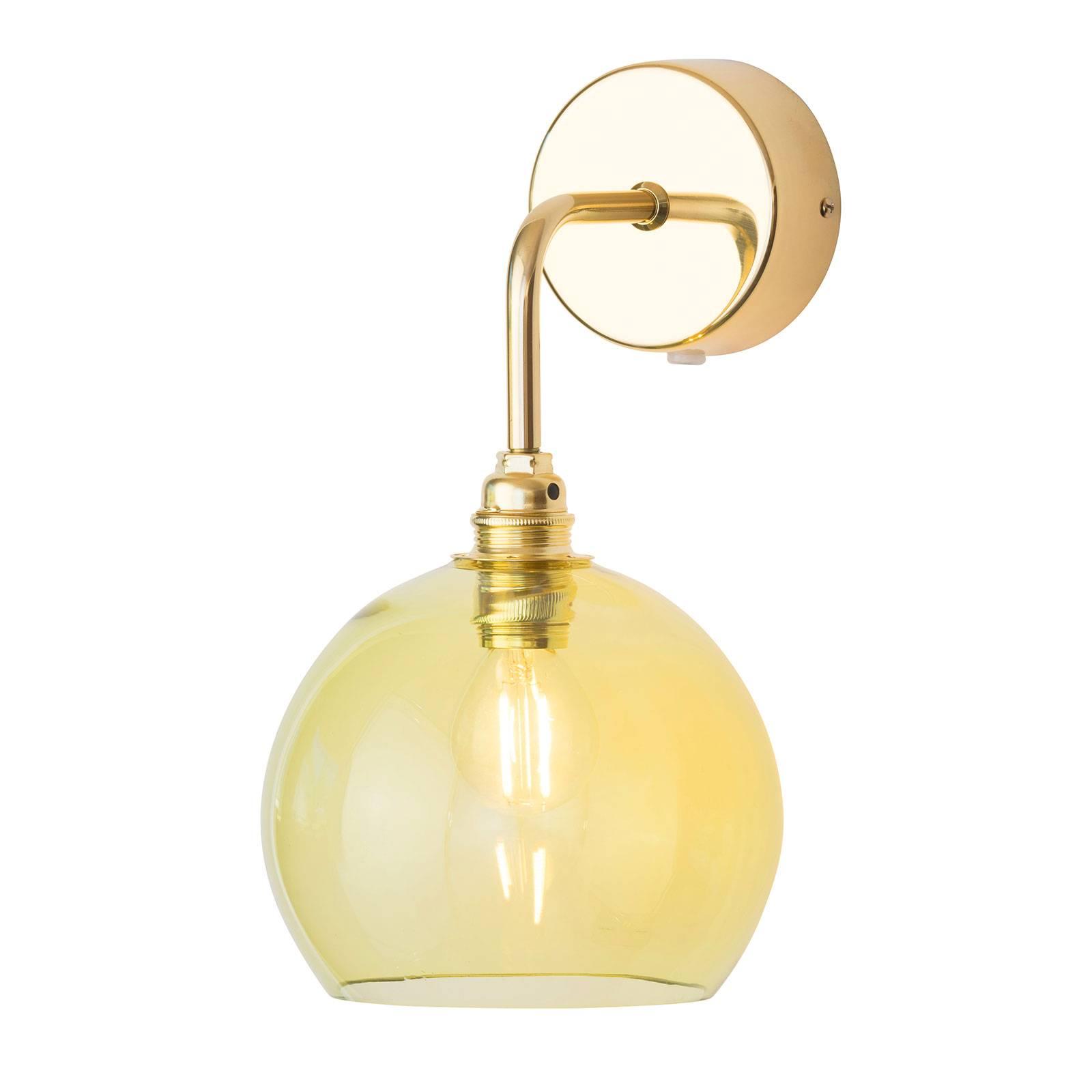 EBB & FLOW Rowan wandlamp goud kap olijfgroen