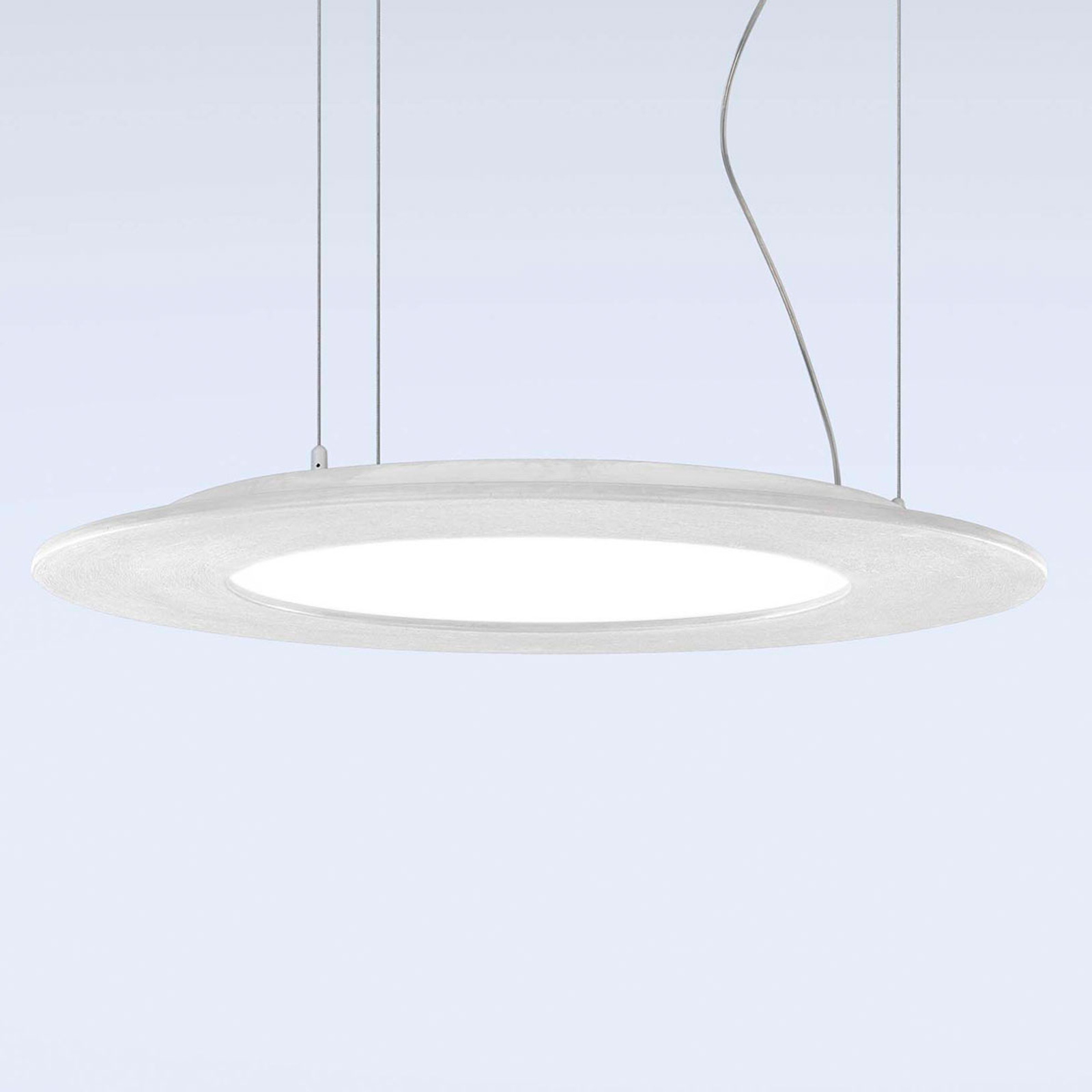 LED hanglamp Materica schijf wit
