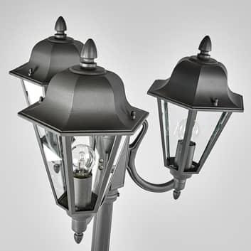 Lampione a 3 luci Edana in grigio grafite