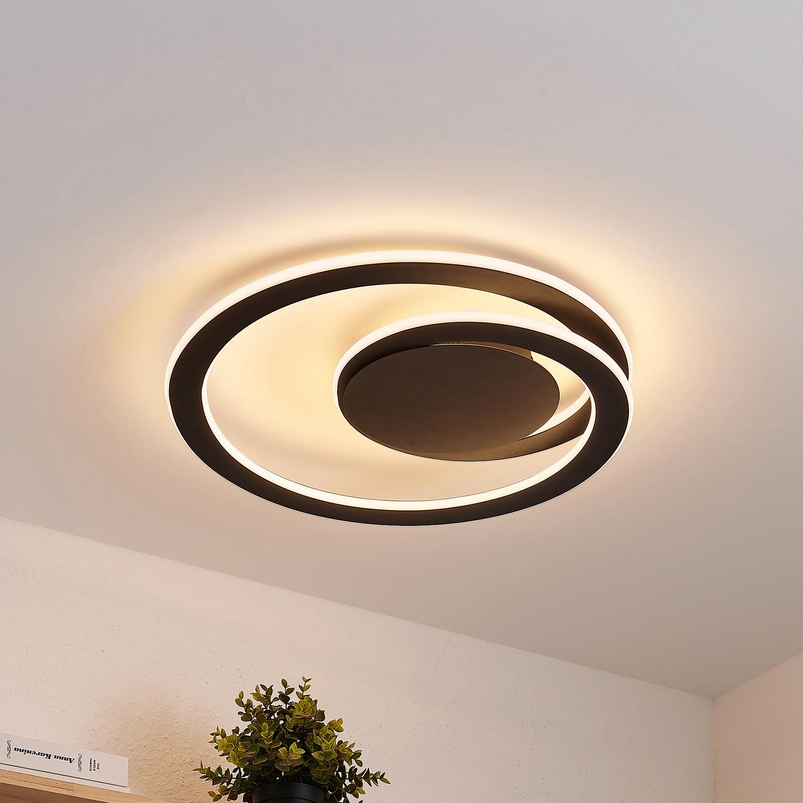 Lindby Favio plafoniera LED, dimming, Ø 52 cm