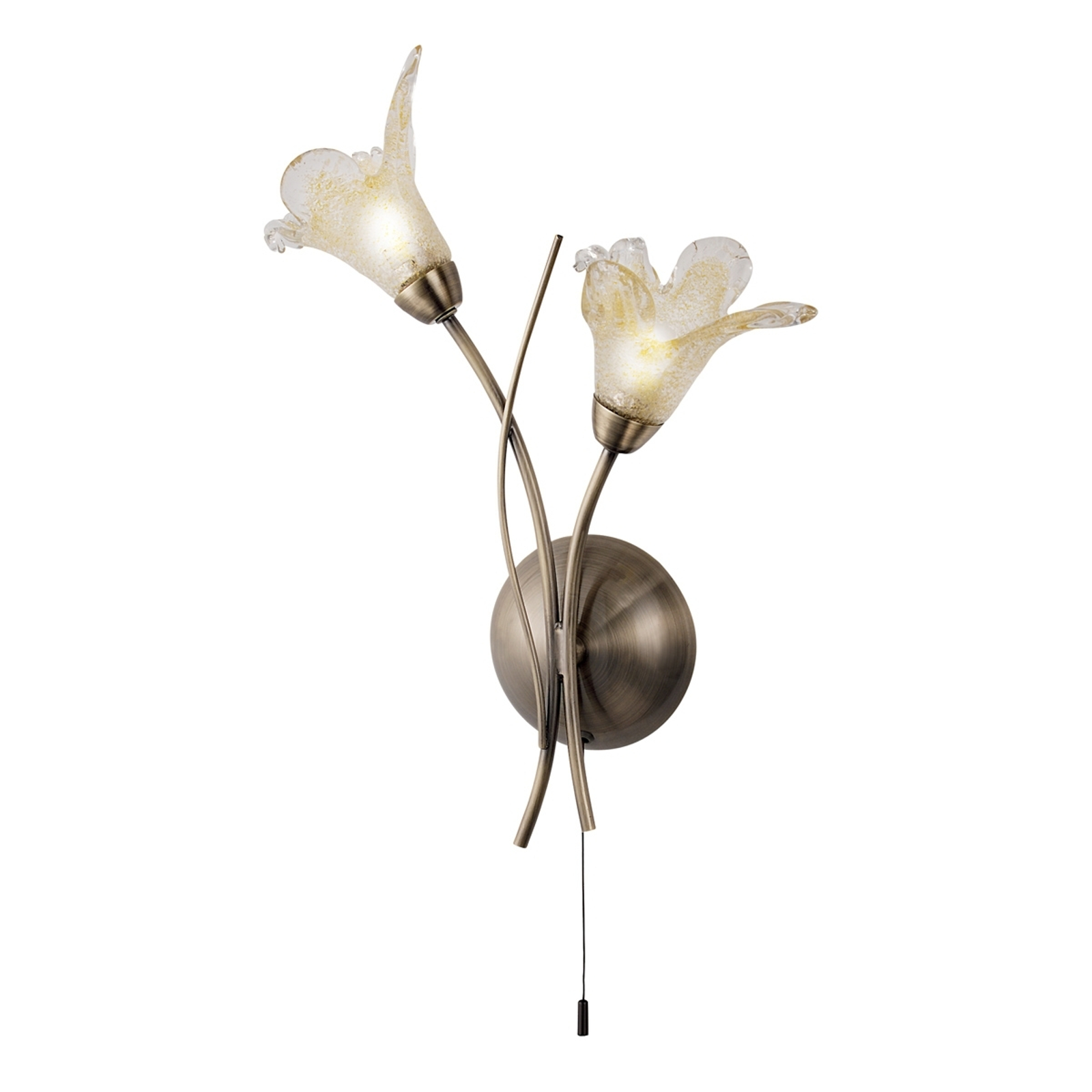 Wandleuchte Lily in Altmessing