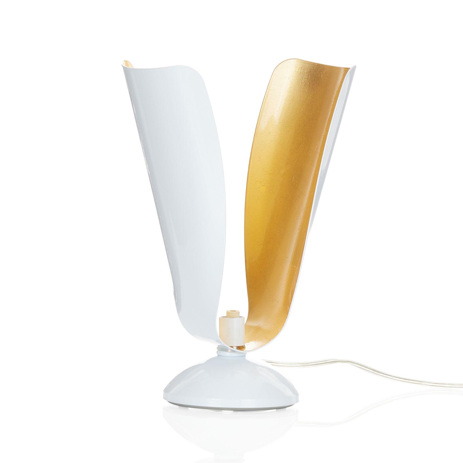 Tafellamp Tropic met bladgoud