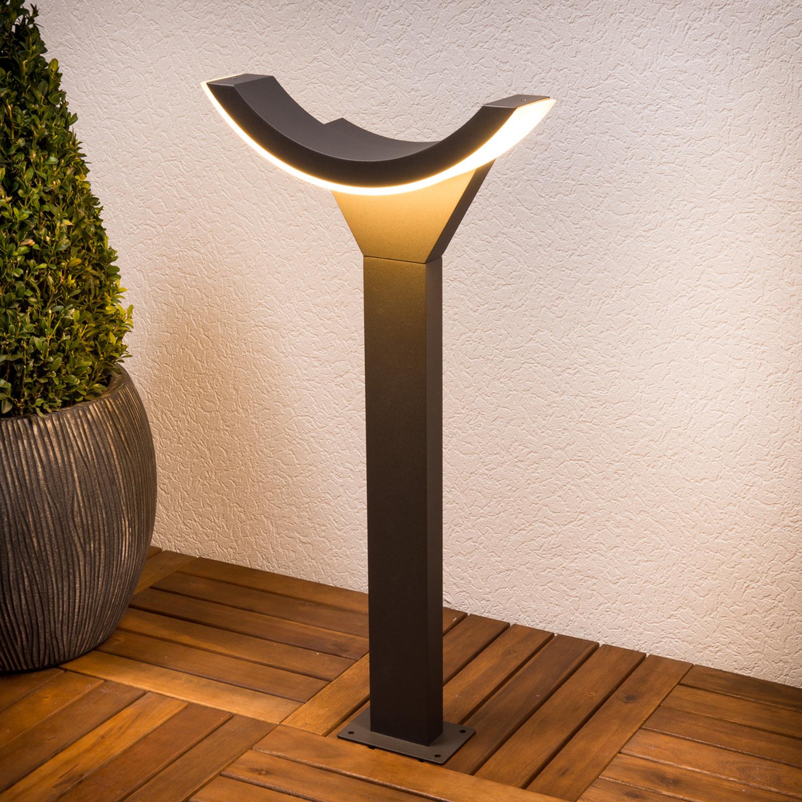 Lampione Half, raffinato, a LED
