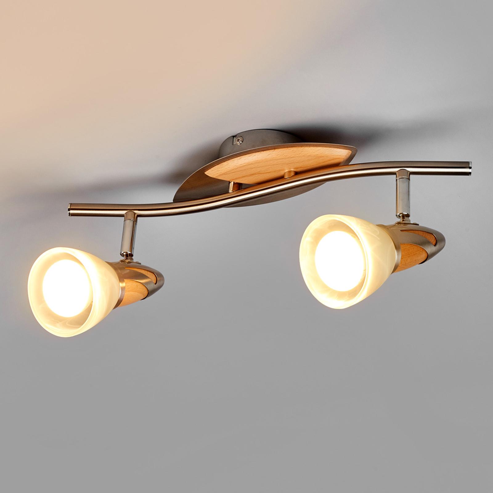 2-lamppuinen LED-spotti Marena, E14 R50