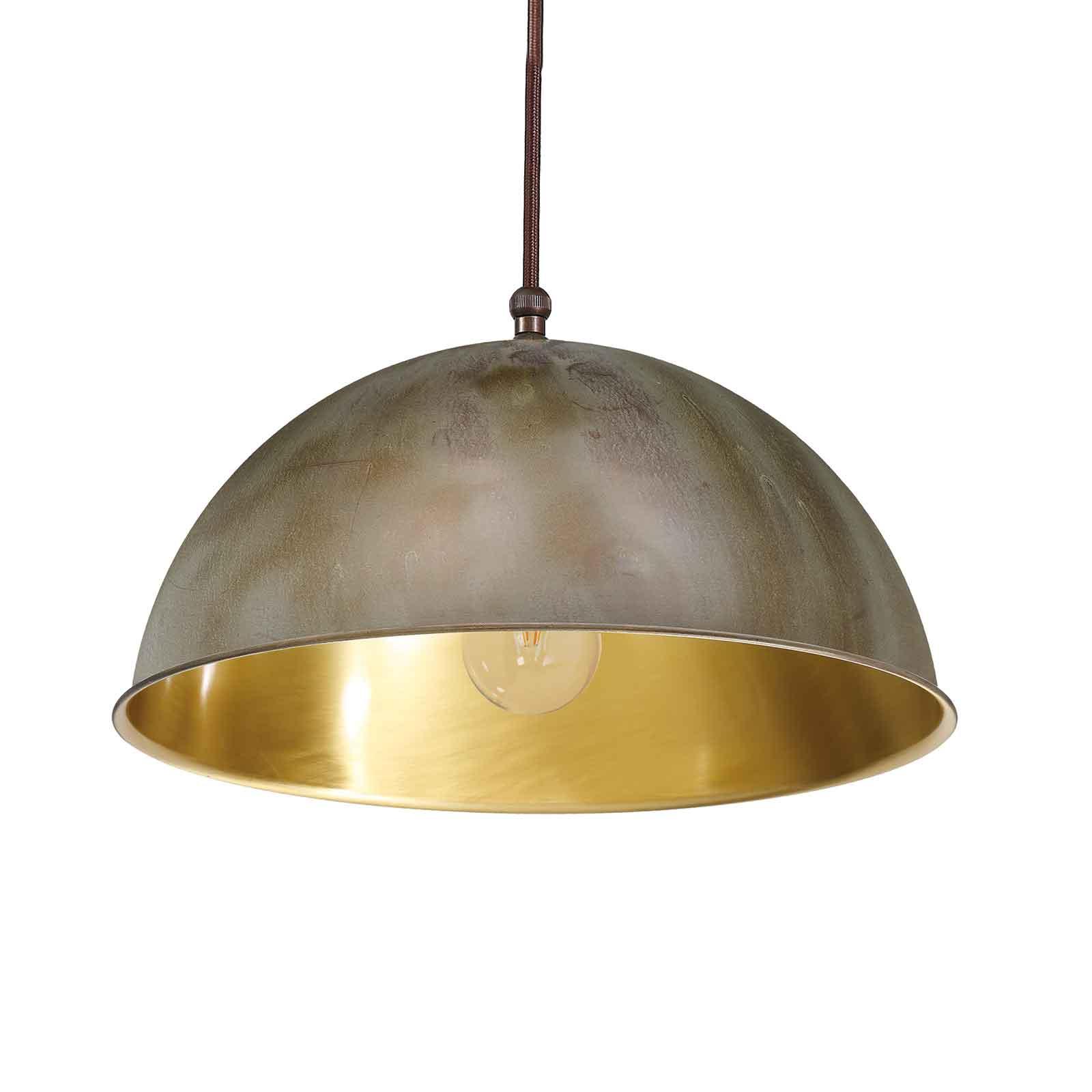 Circle hengelampe, gull/antikk messing, Ø20cm