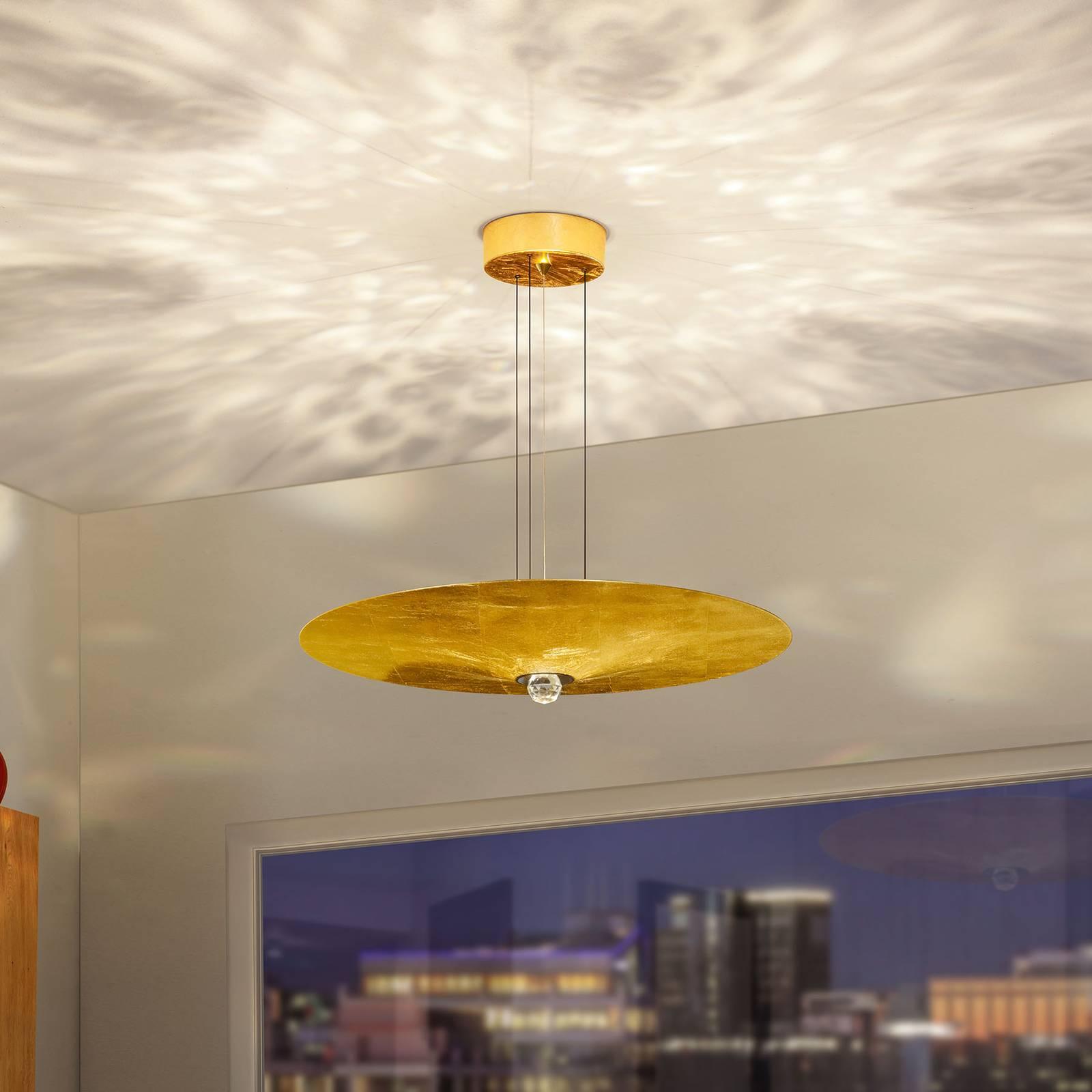 BANKAMP Wisdom LED-Hängeleuchte, Blattgold, Ø 60cm