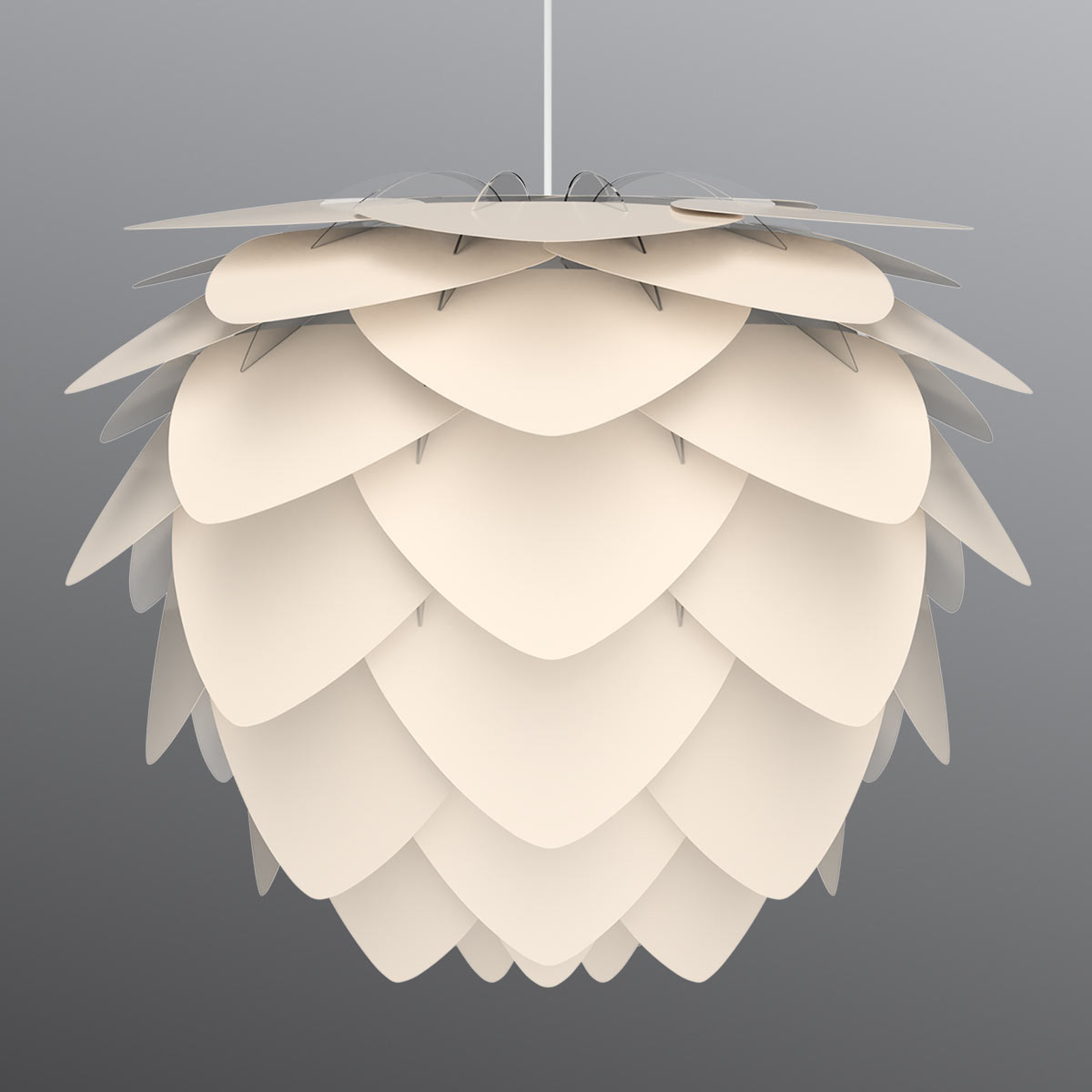 Lampa wisząca Aluvia medium, kolor macicy perłowej