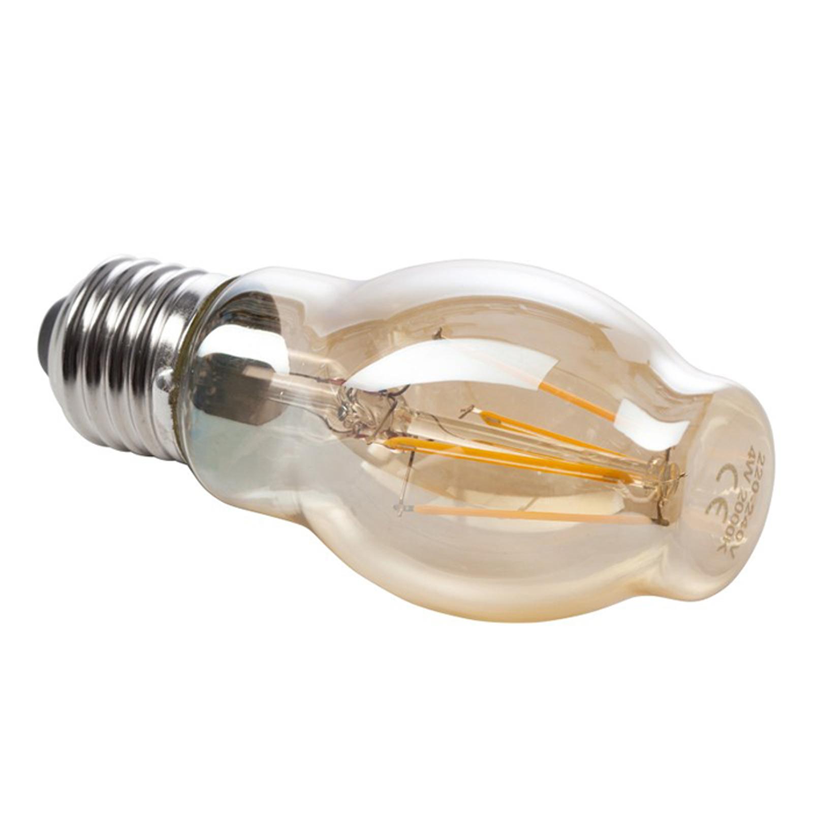 Złota żarówka filament LED E27 6W 820