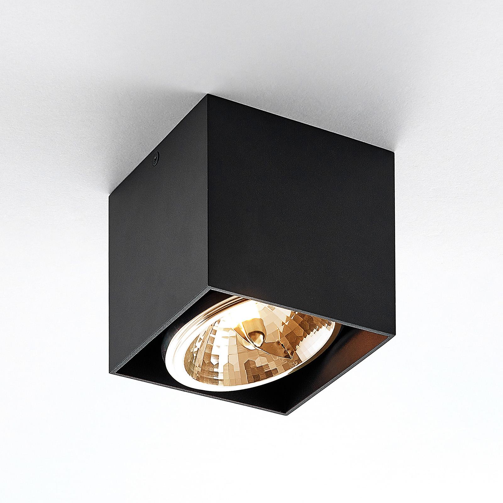 Arcchio Jarle lampa sufitowa, 1-punktowa czarna