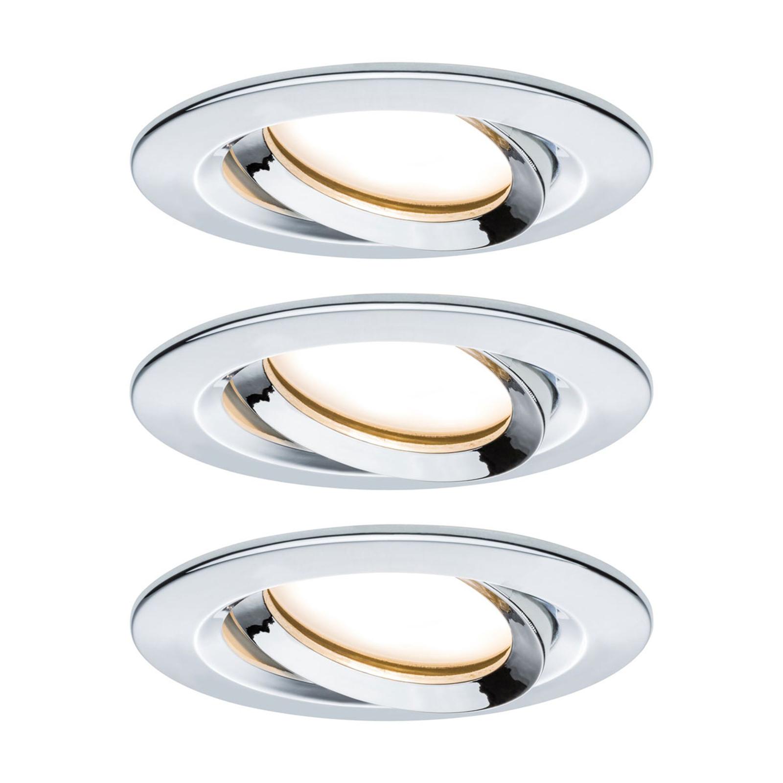 Paulmann Nova Plus 3-pack LED-spot rund krom