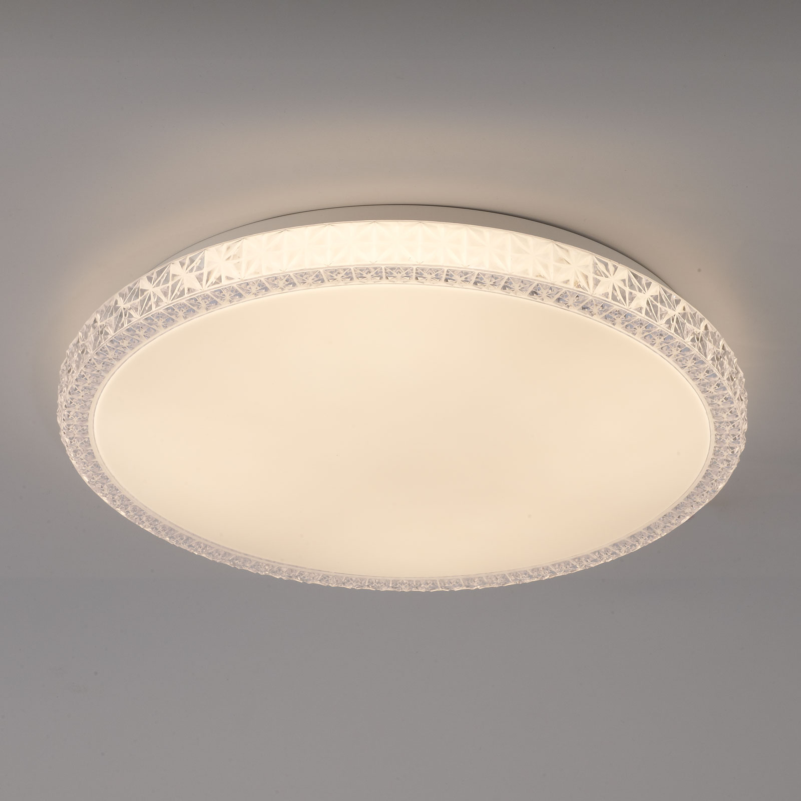 Plafonnier LED Naxos, dim., chang. couleur blanc