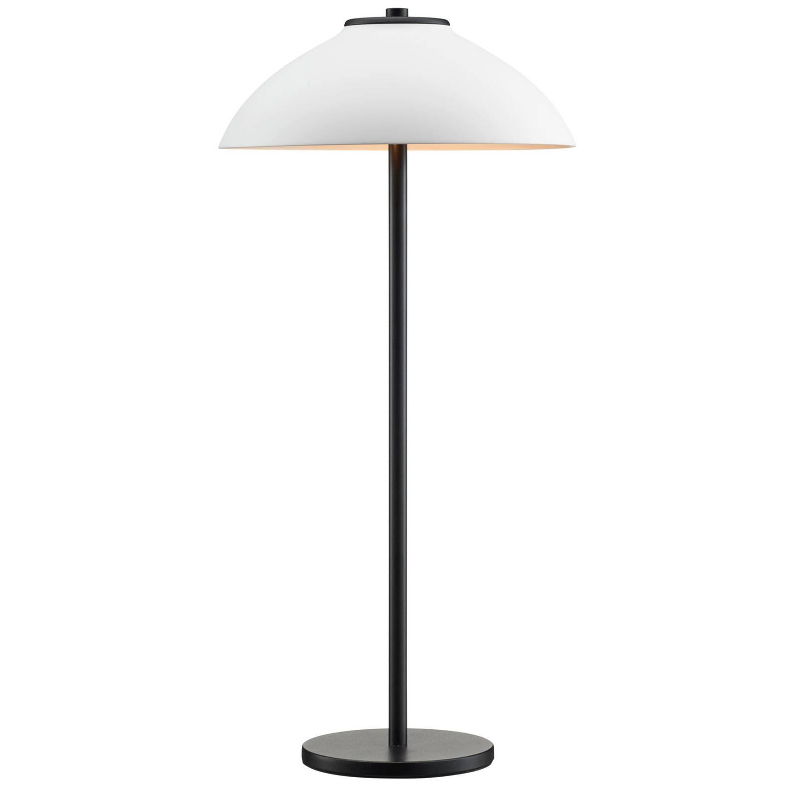 Tischleuchte Vali, Höhe 50 cm, schwarz/weiß