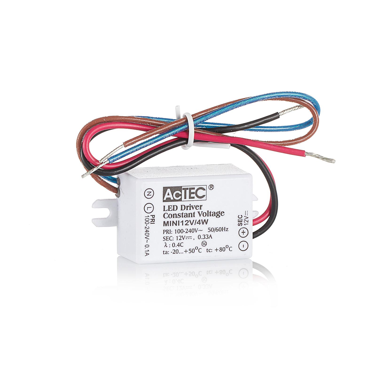 AcTEC Mini LED-Treiber CV 12V, 4W, IP65
