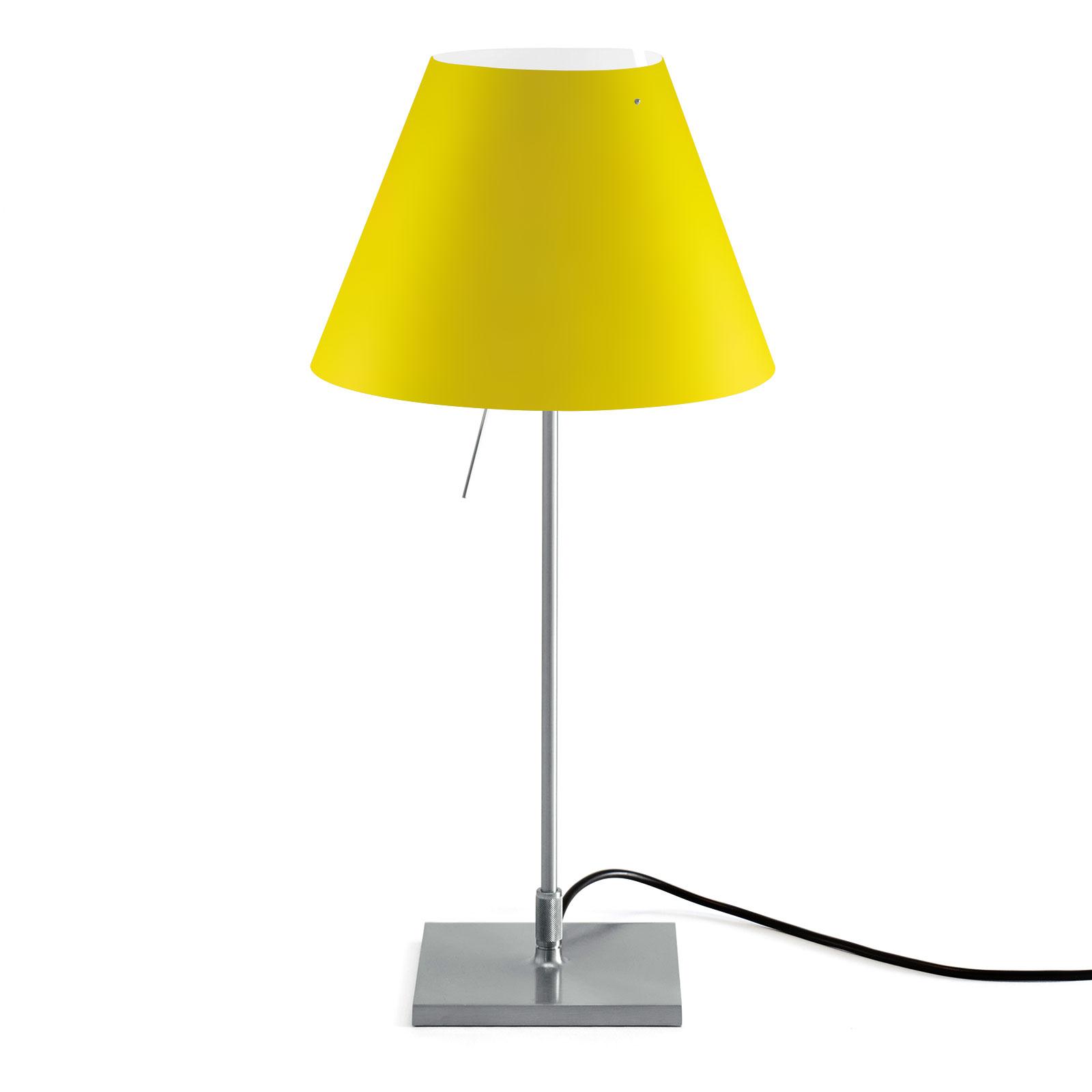 Luceplan Costanzina lampe à poser alu jaune canari