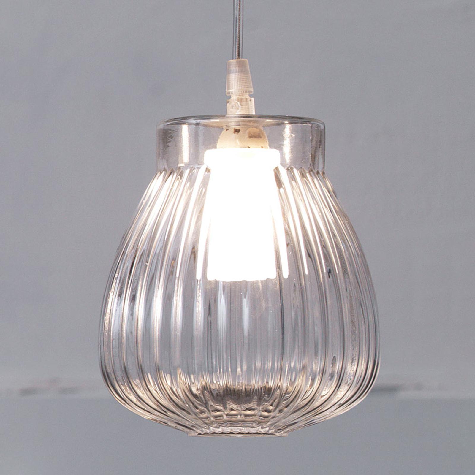 Lampa wisząca Ceraunavolta ze szklanym kloszem