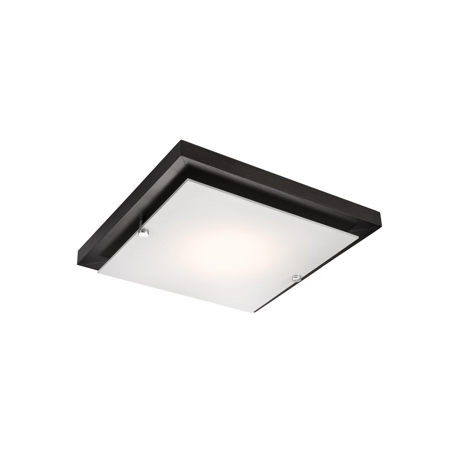 Deckenlampe Kerio, 30x30 cm, wenge