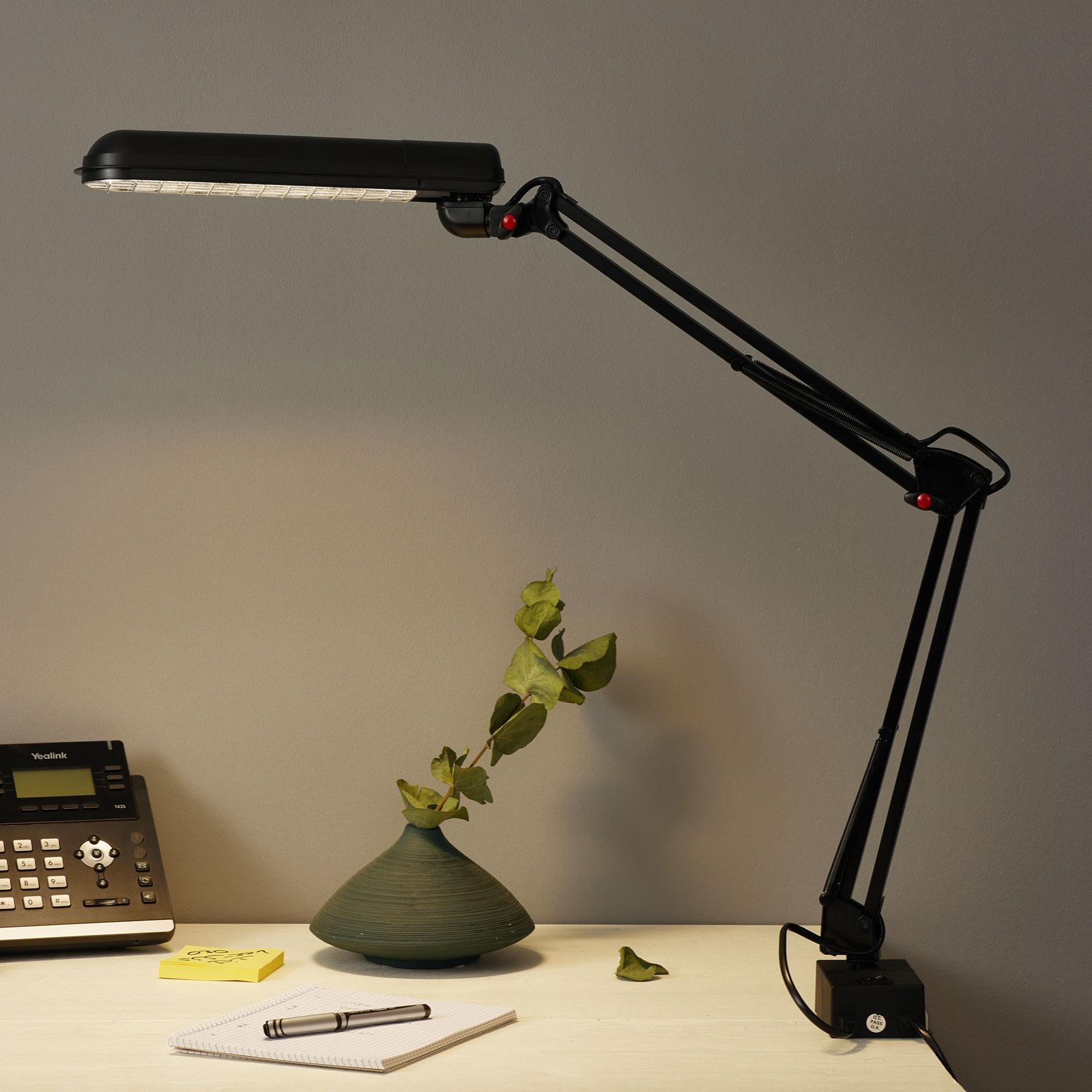 PFIFF skrivebordslampe med fotklemme