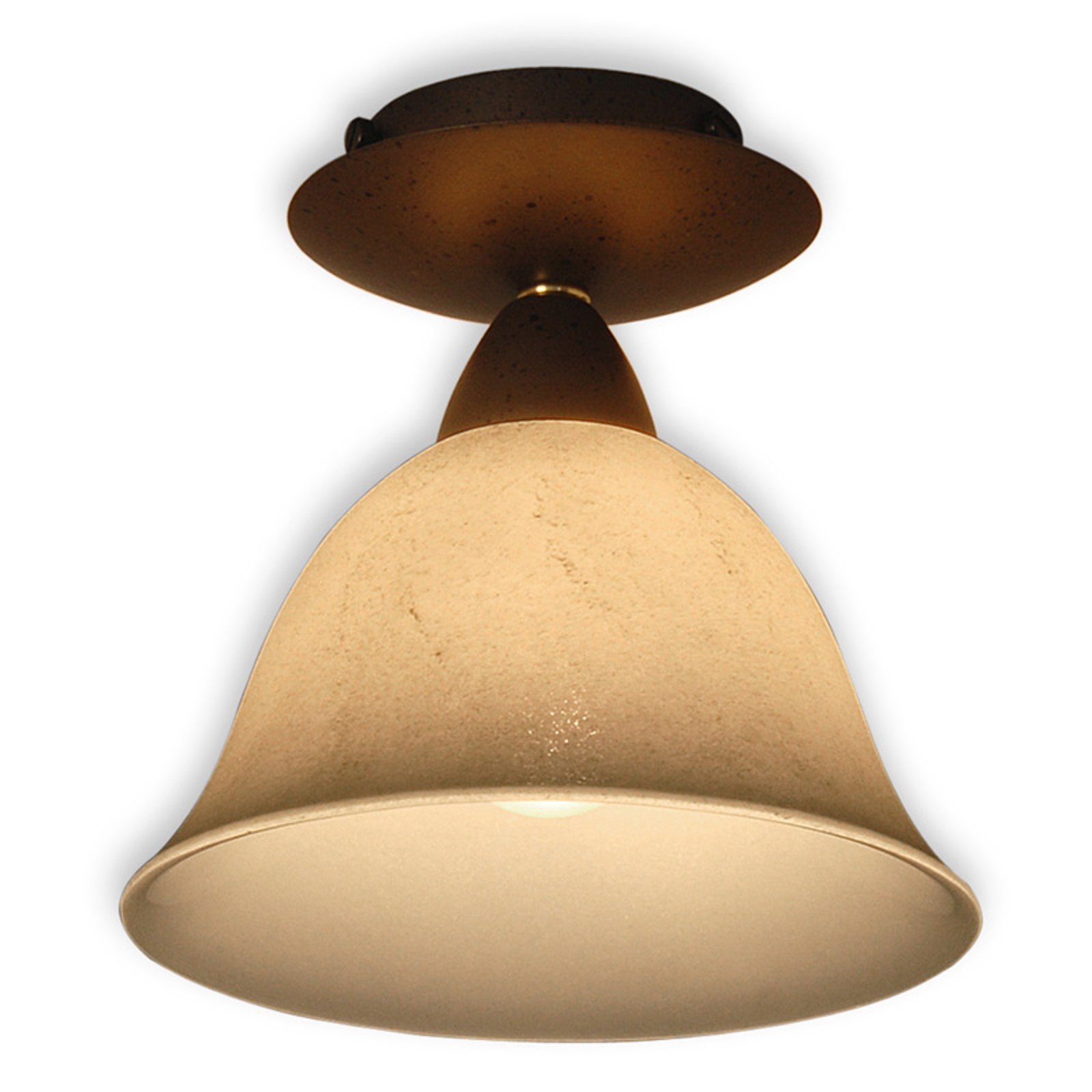 Pusta - plafondlamp met scavo-rookglas