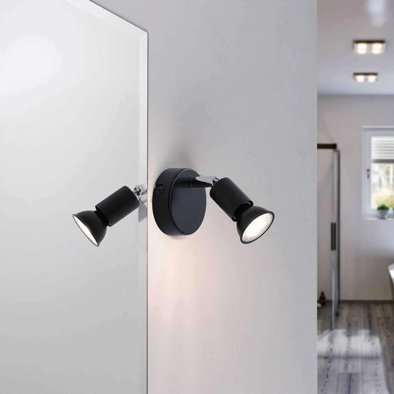 Paulmann Carolina wandlamp, antraciet, IP44