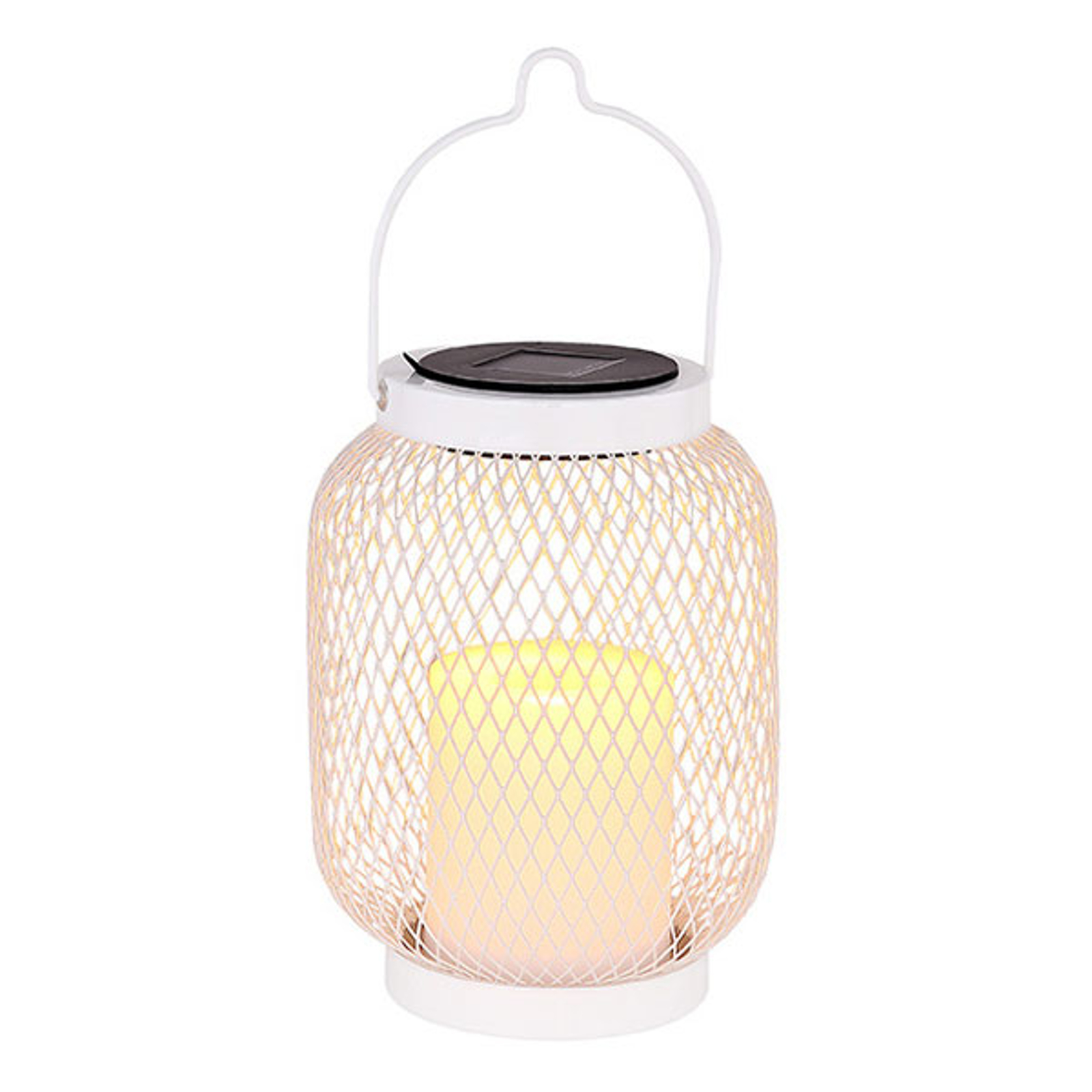 Solarna lampa wisząca LED 33542, latarnia biała