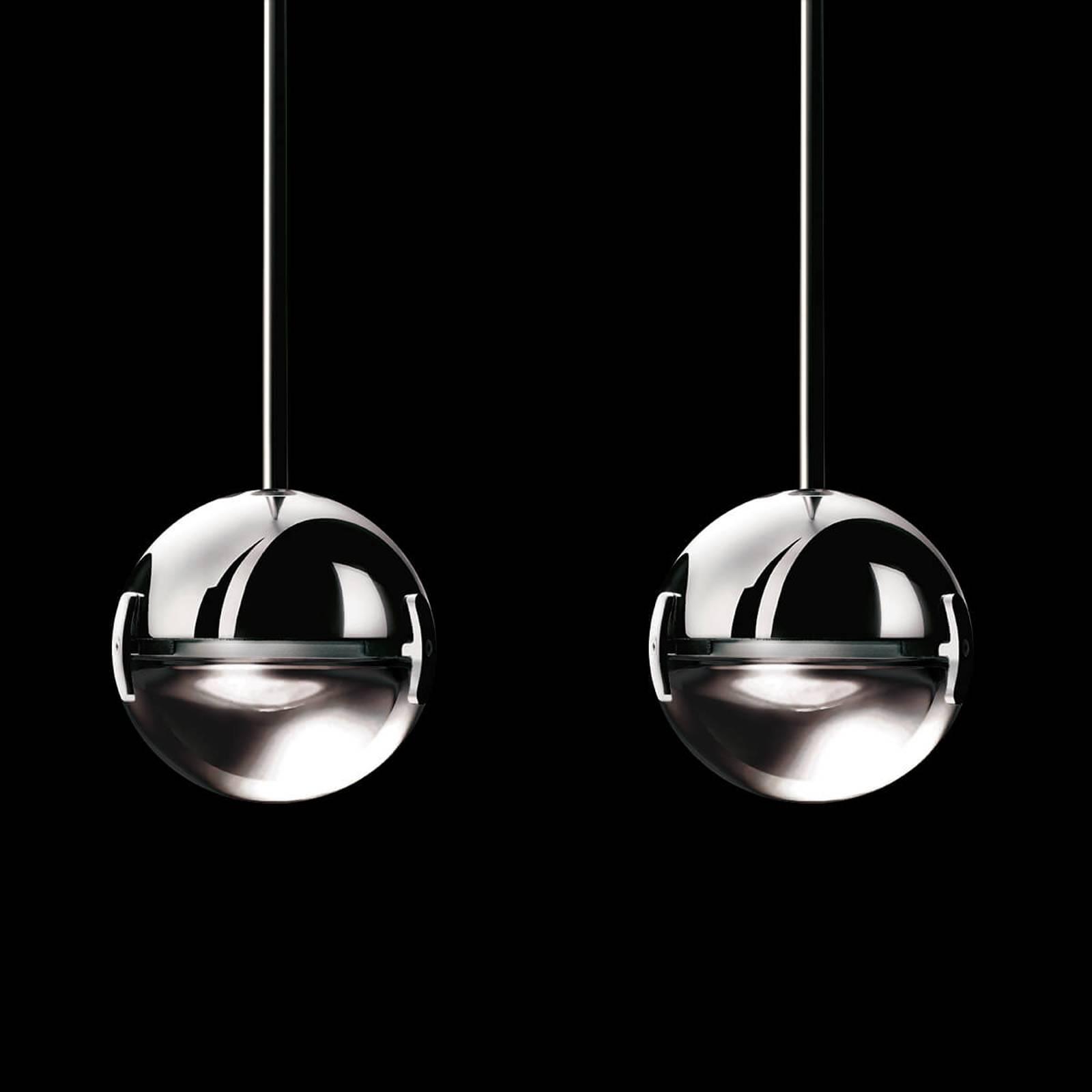 Suspension LED Convivio deux lampes, transparente