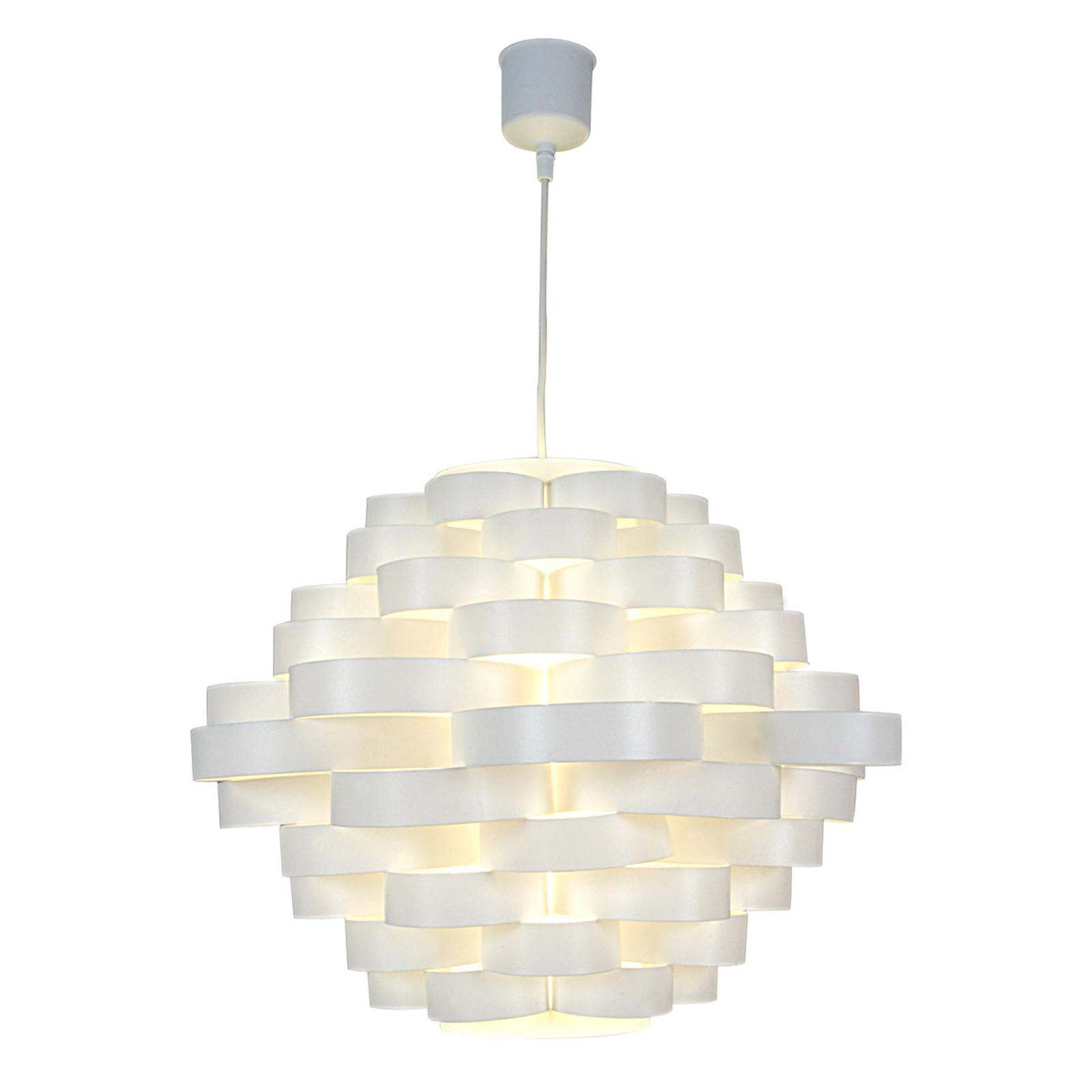 Lampa wisząca White z kloszem z okrągłych szybek