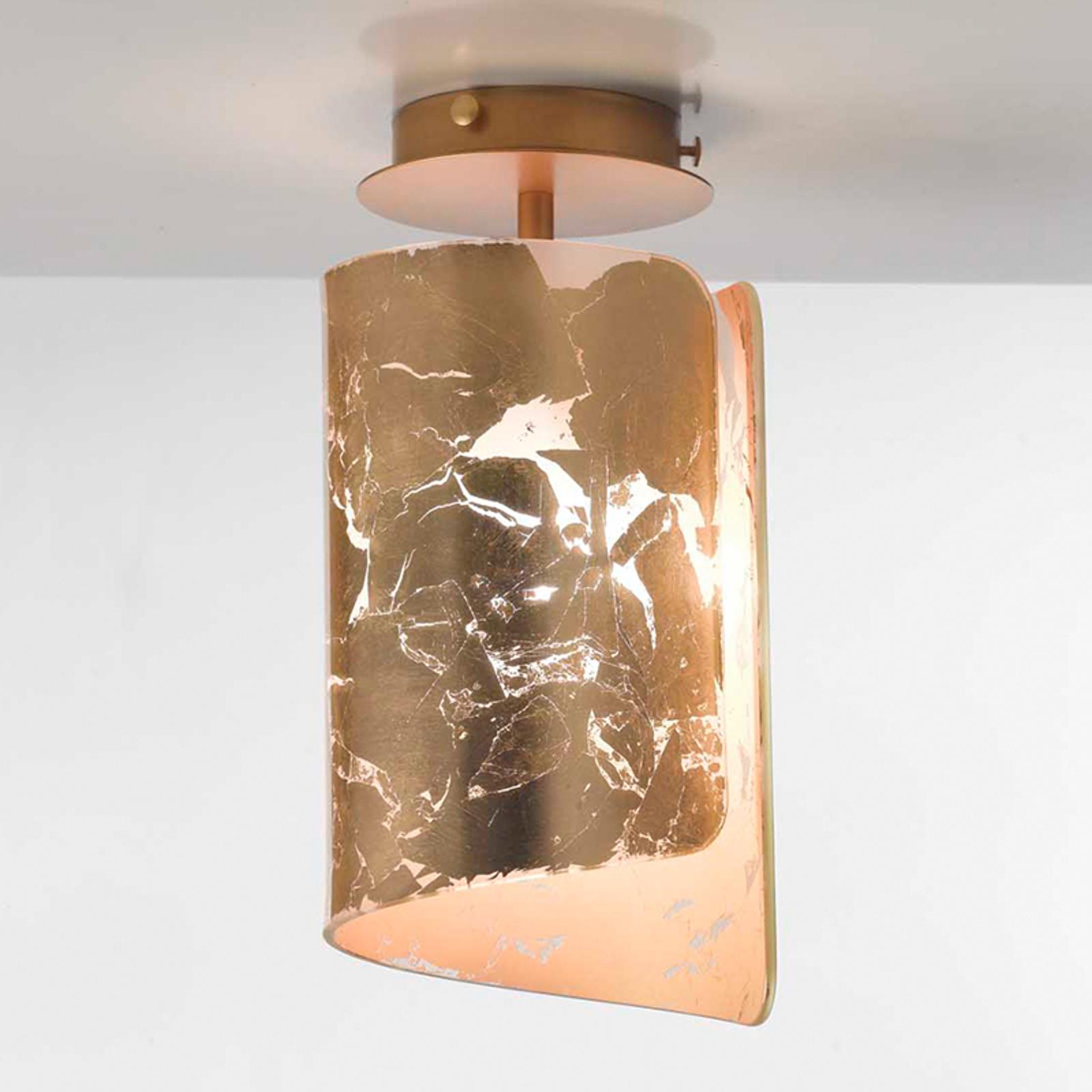 Bajeczna lampa sufitowa Papiro złota